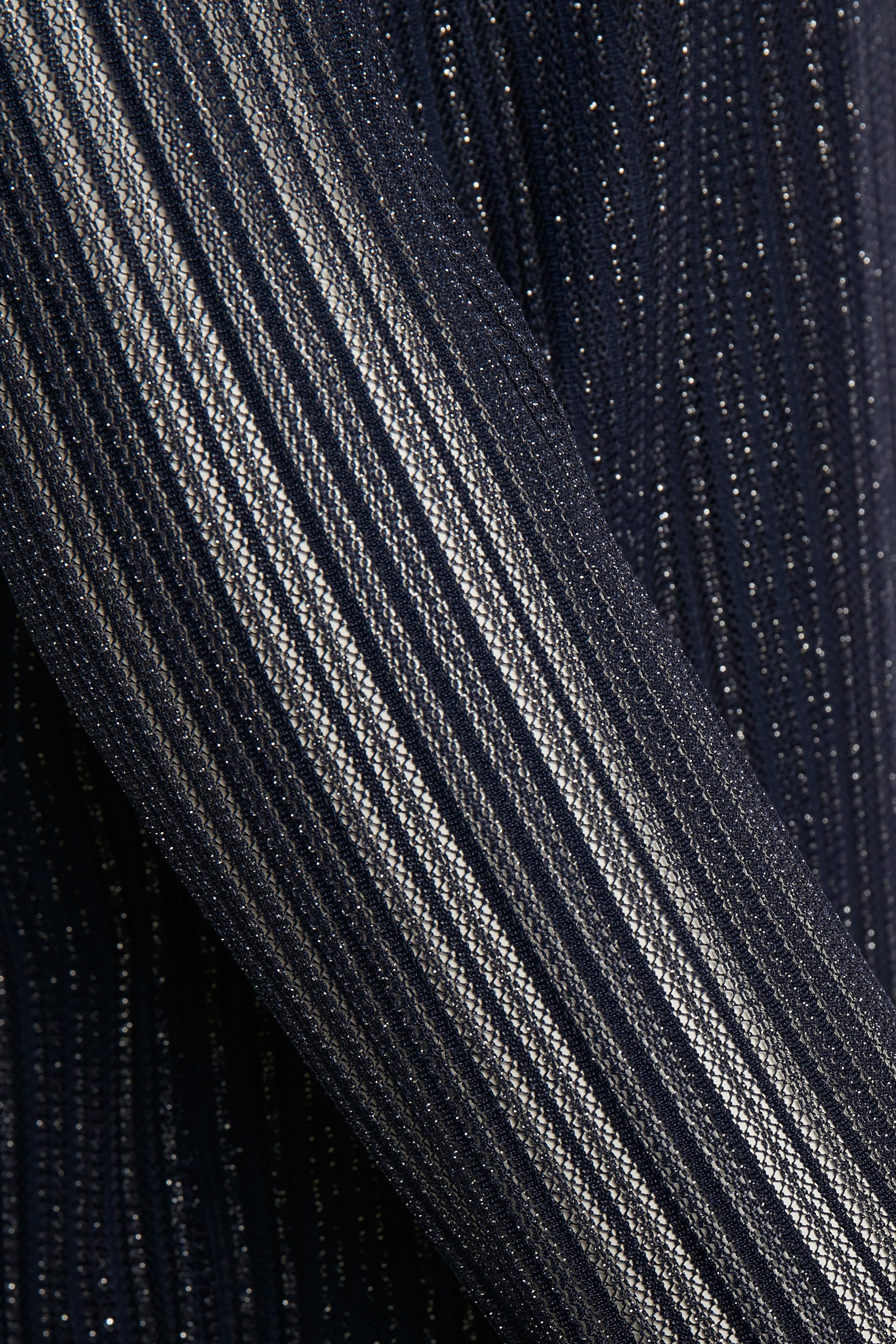 Marineblauw/zilver Blouse met lange mouwen van Kaffe – Door Marineblauw/zilver Blouse met lange mouwen van maat. XS-XXL hier