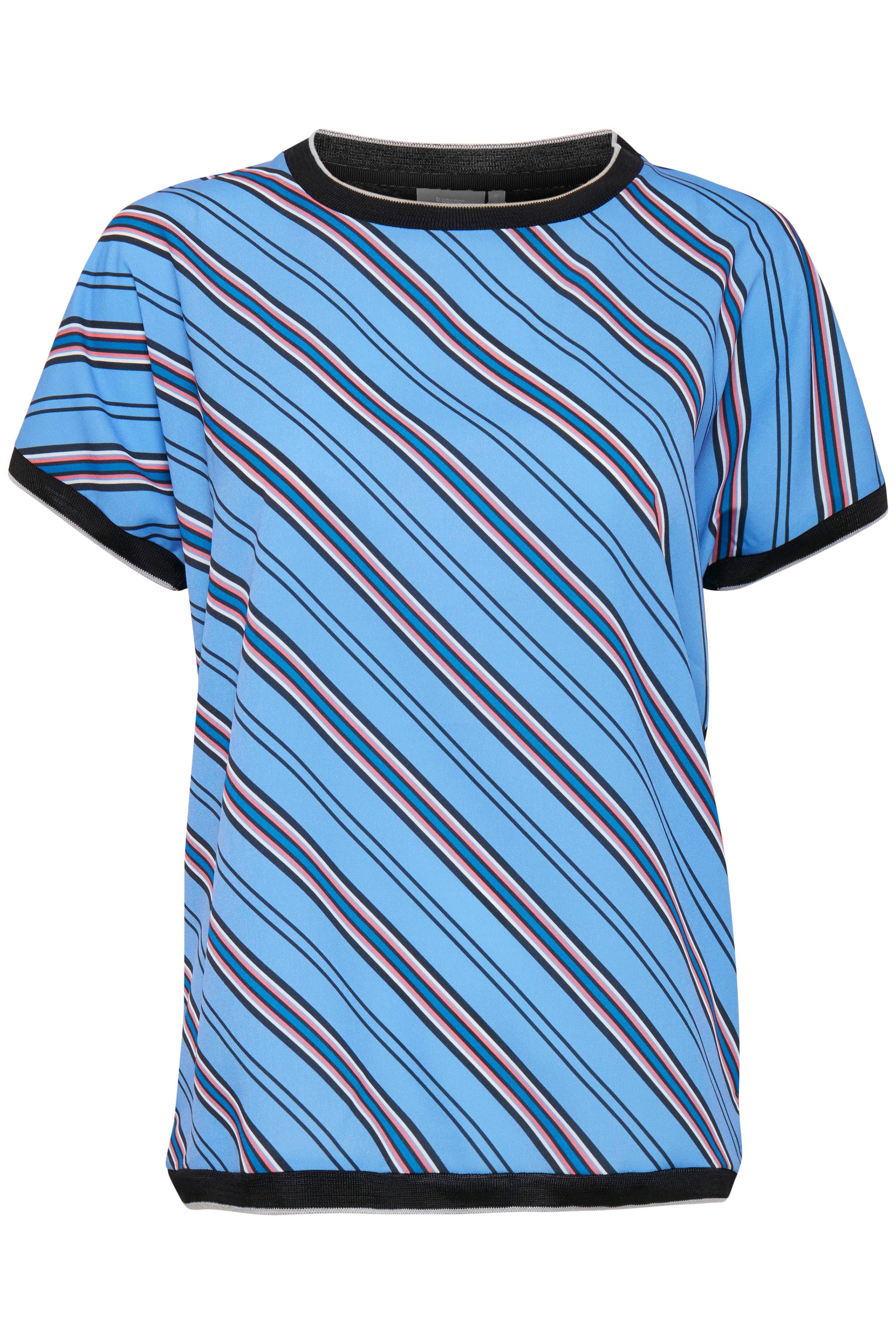 b.young Dame T-shirt korte mouw - Misty blauw/marineblauw
