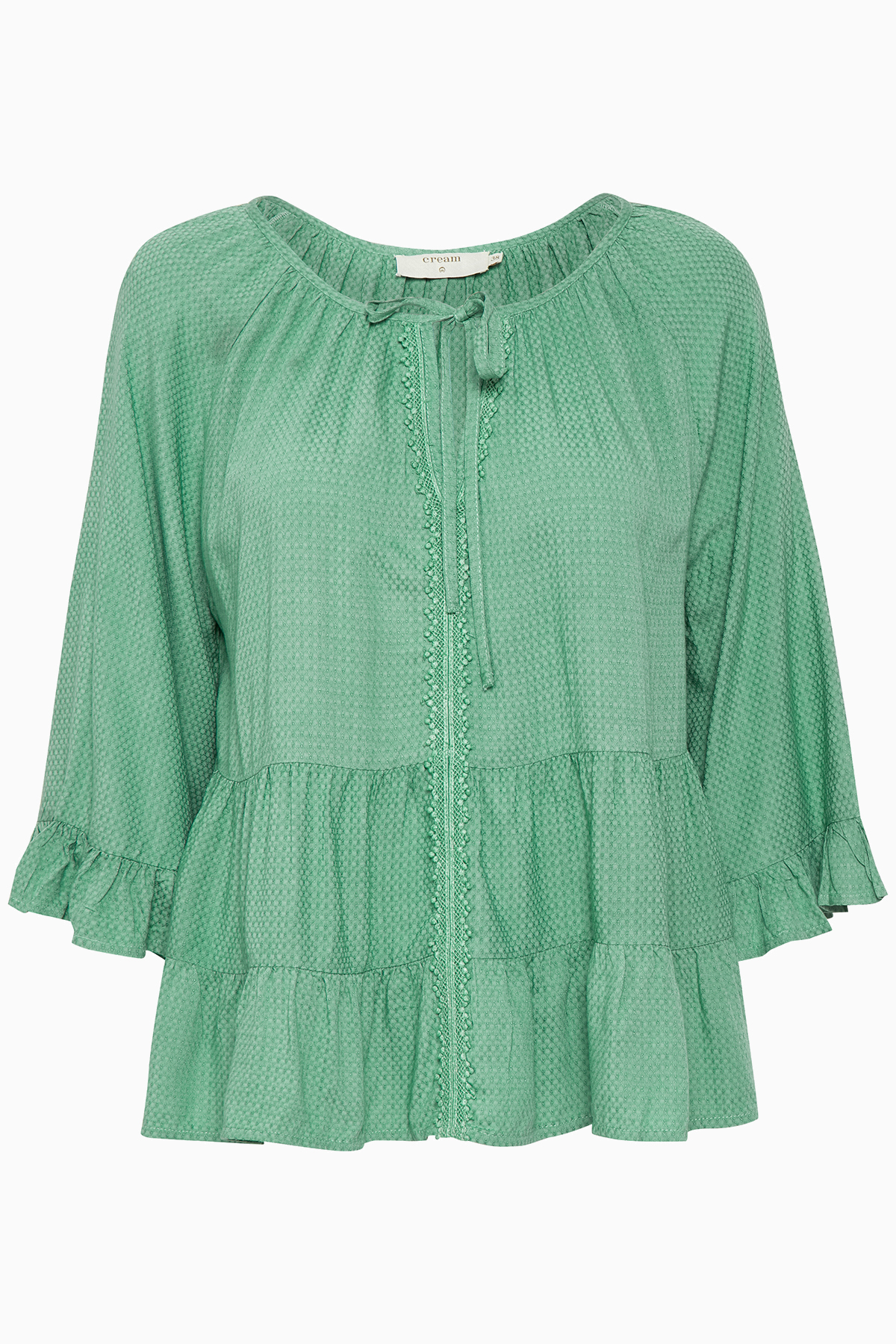 Cream Dame Blouse - Misty groen