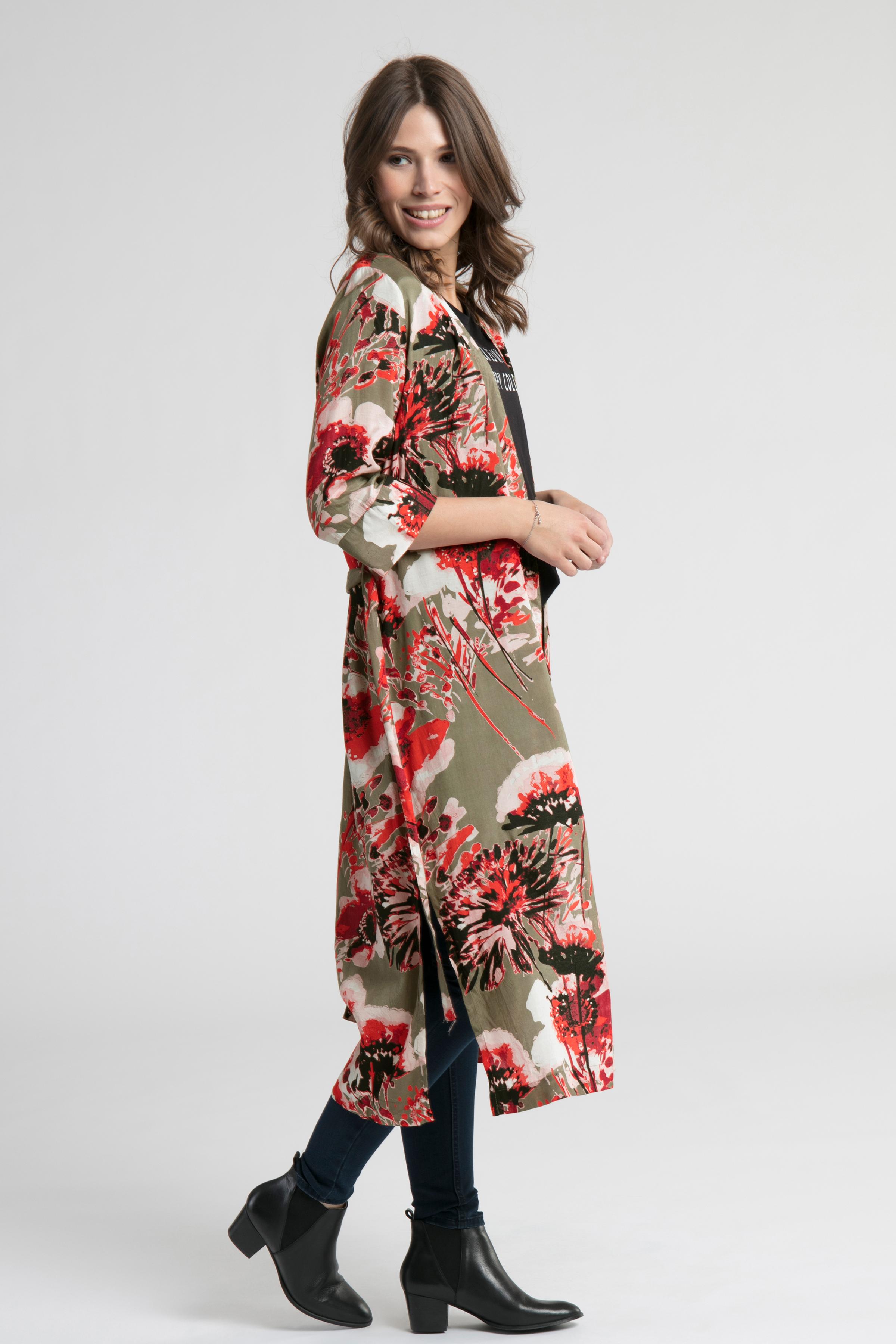 Misty olijf/rood Kimono van Kaffe – Door Misty olijf/rood Kimono van maat. 34-46 hier