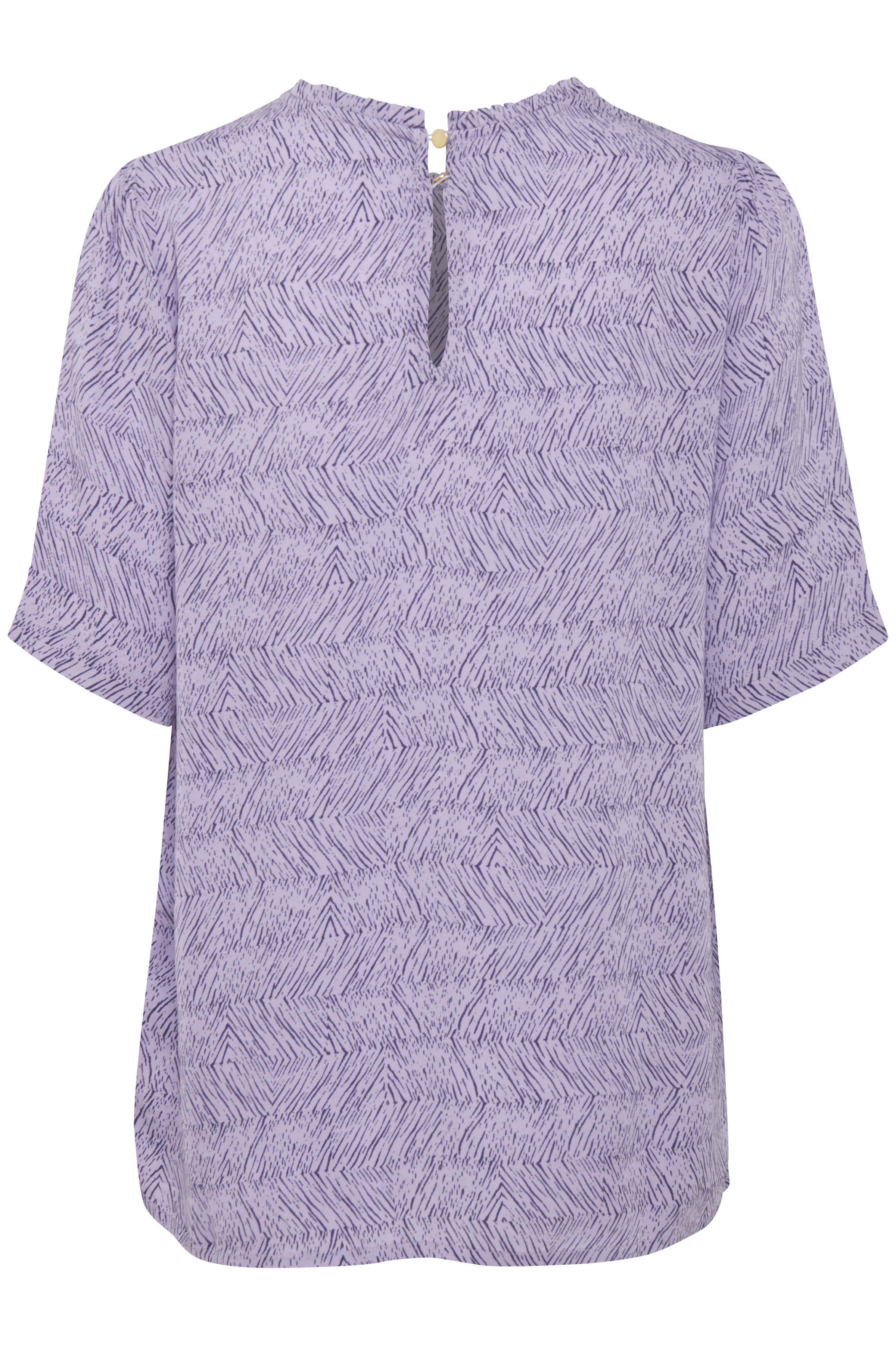 Misty paars/donkerpaars Korte mouwen shirt  van Dranella – Door Misty paars/donkerpaars Korte mouwen shirt  van maat. XS-XXL hier