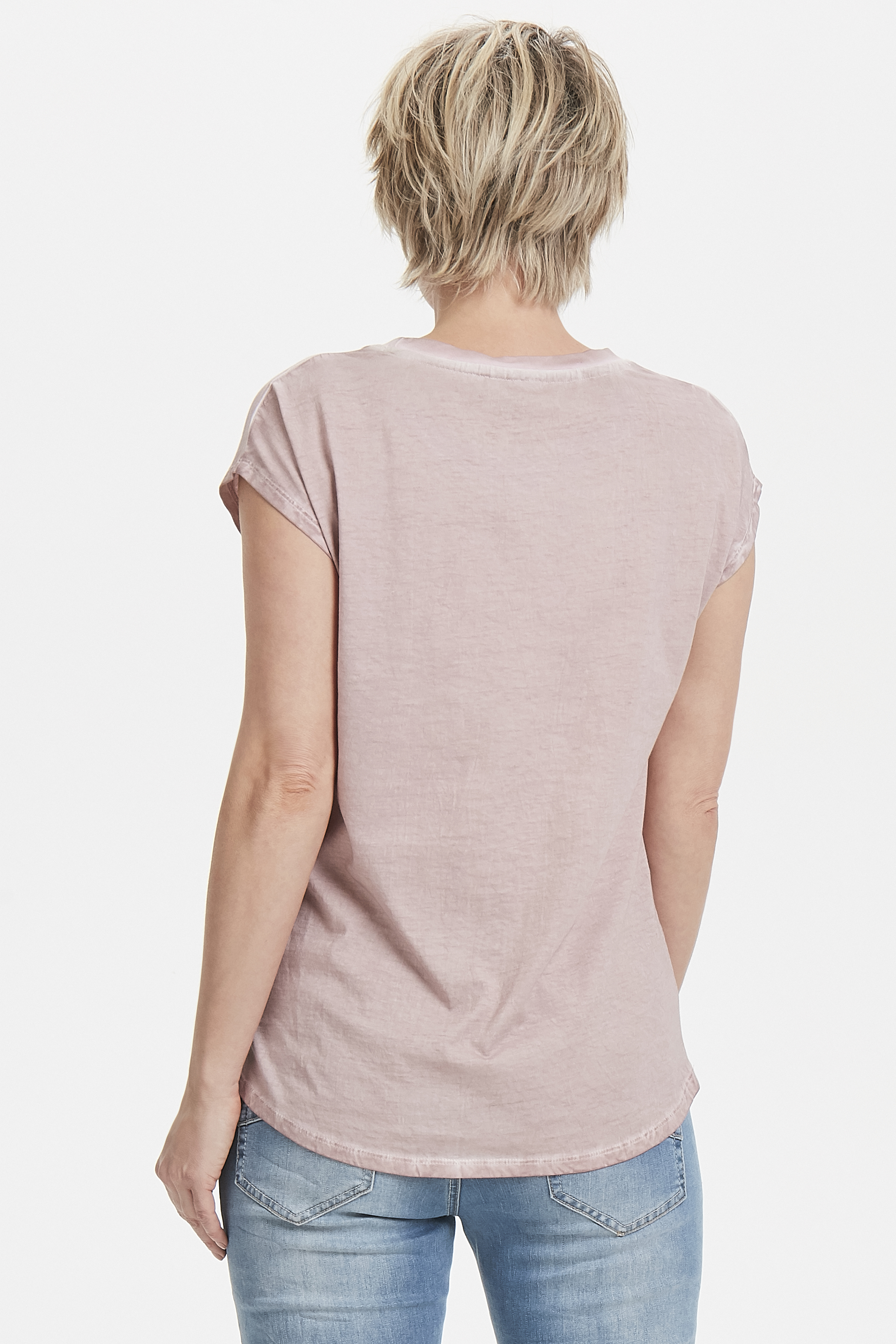 Misty roze Korte mouwen T-shirt  van Bon'A Parte – Door Misty roze Korte mouwen T-shirt  van maat. S-2XL hier
