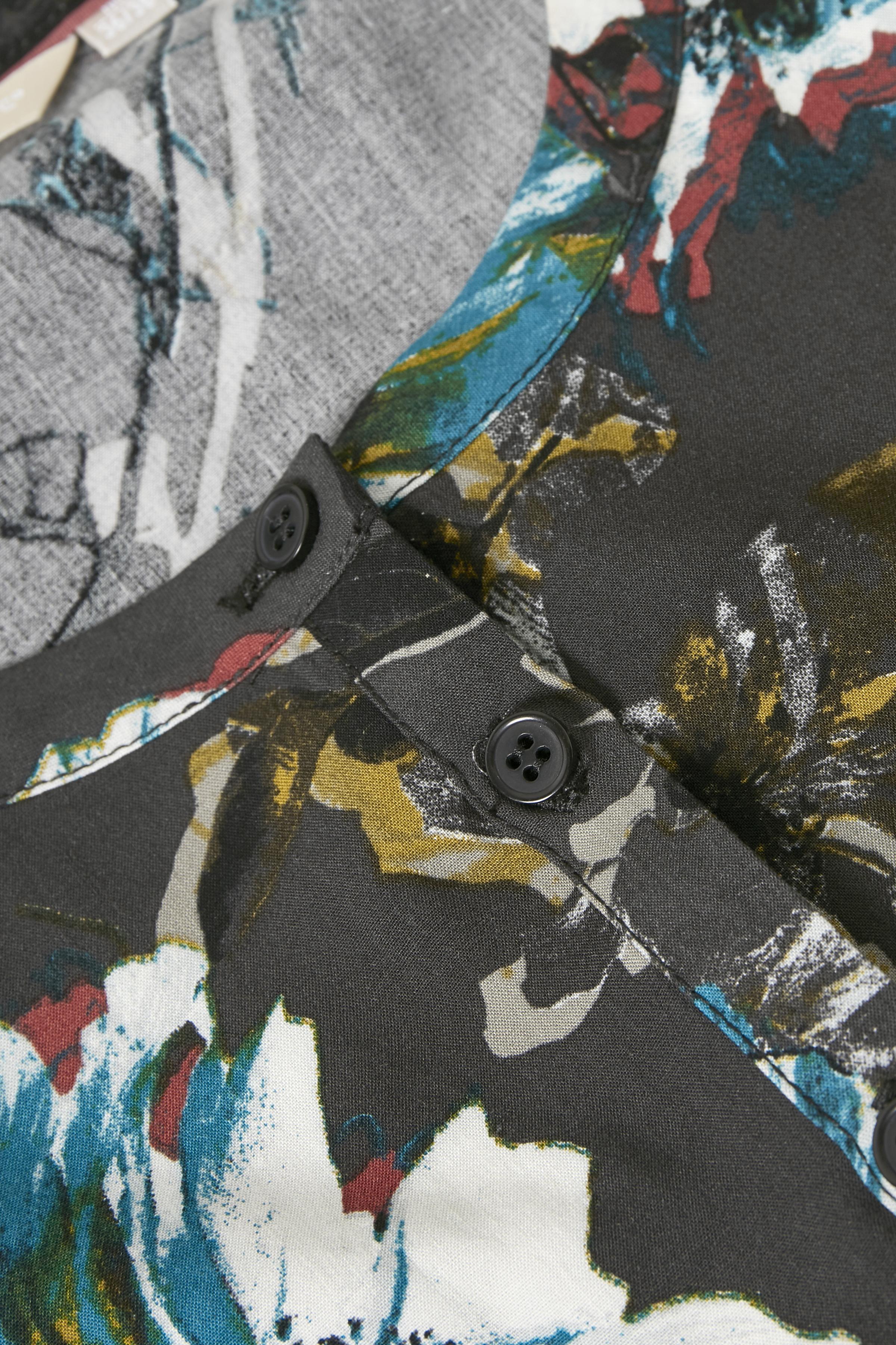 Mørk antracitgrå/blå Kjole fra Bon'A Parte – Køb Mørk antracitgrå/blå Kjole fra str. S-2XL her