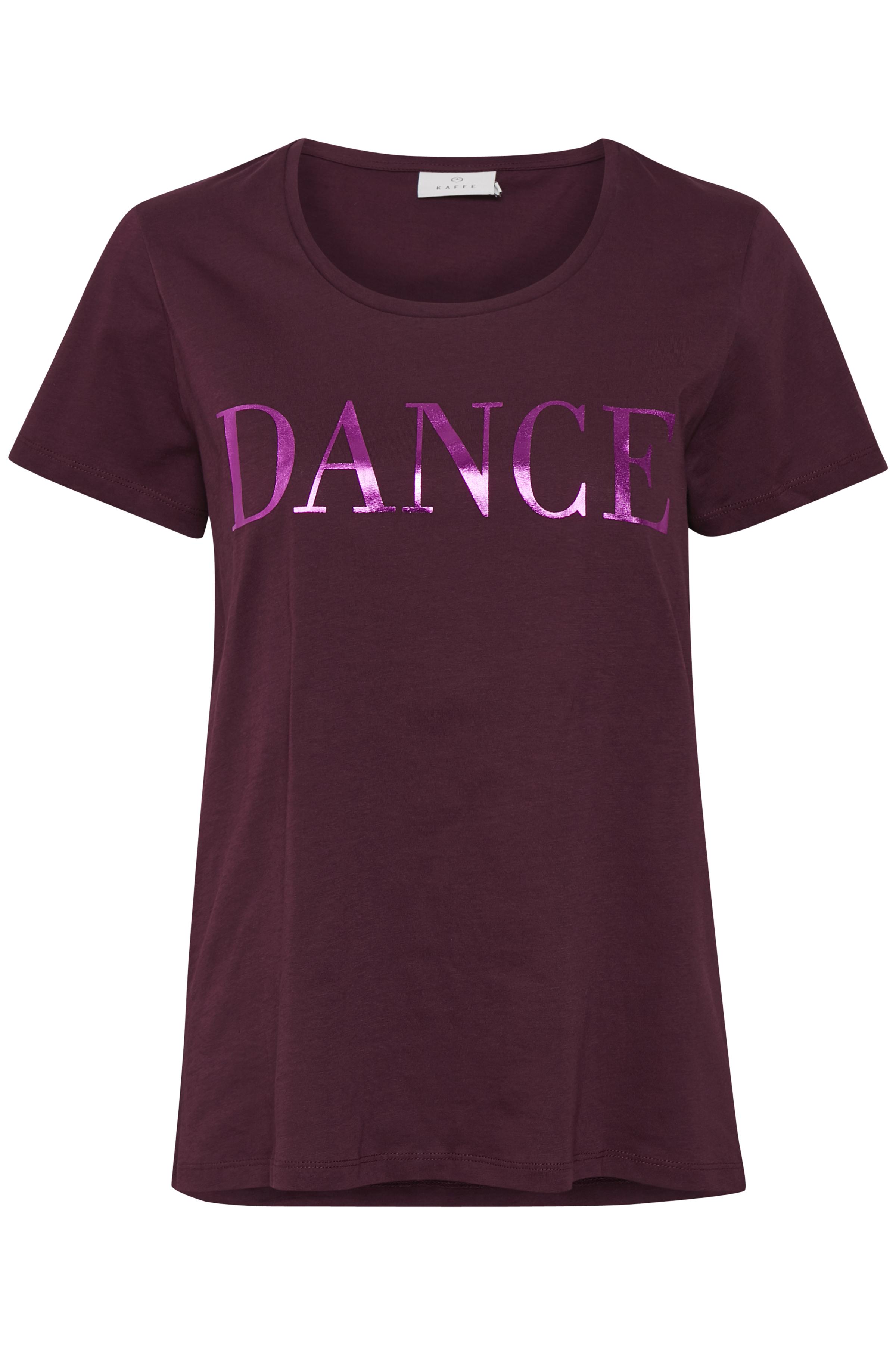 Mørk bordeaux Kortærmet T-shirt fra Kaffe – Køb Mørk bordeaux Kortærmet T-shirt fra str. XS-XXL her