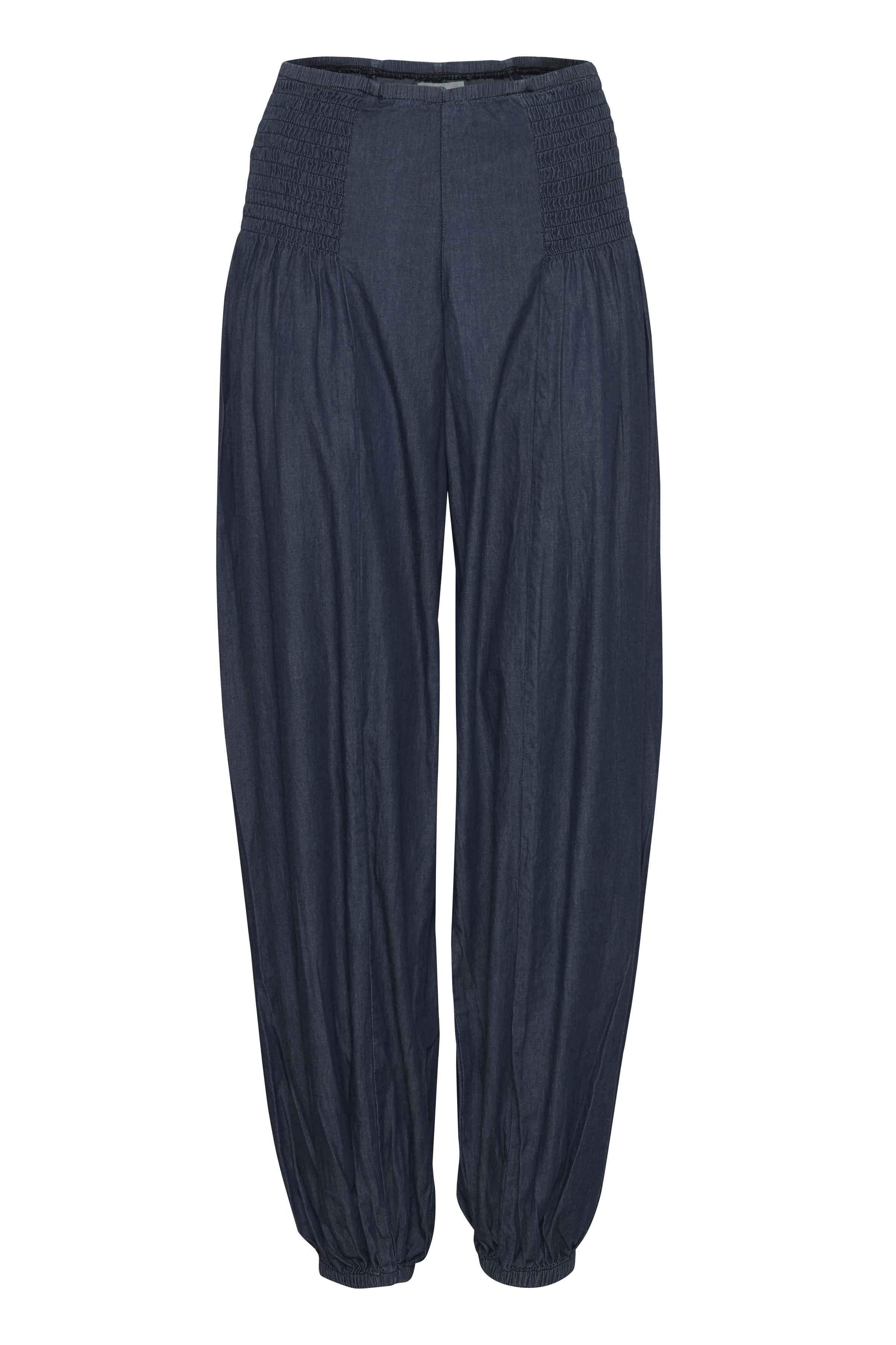 Image of Pulz Jeans Dame Casual bukser - Mørk denimblå
