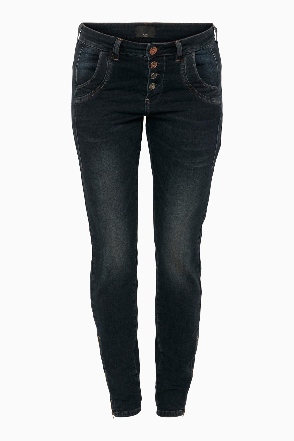 Image of Pulz Jeans Dame Jeans - Mørk denimblå