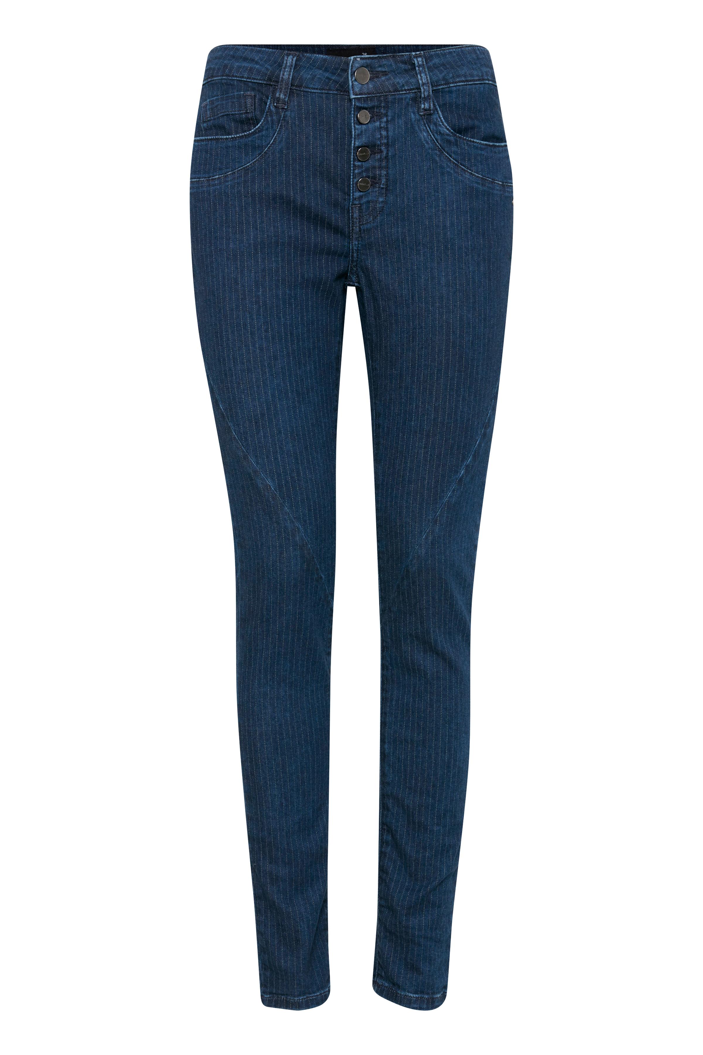 Mørk denimblå/off-white Jeans fra Dranella – Køb Mørk denimblå/off-white Jeans fra str. 32-46 her