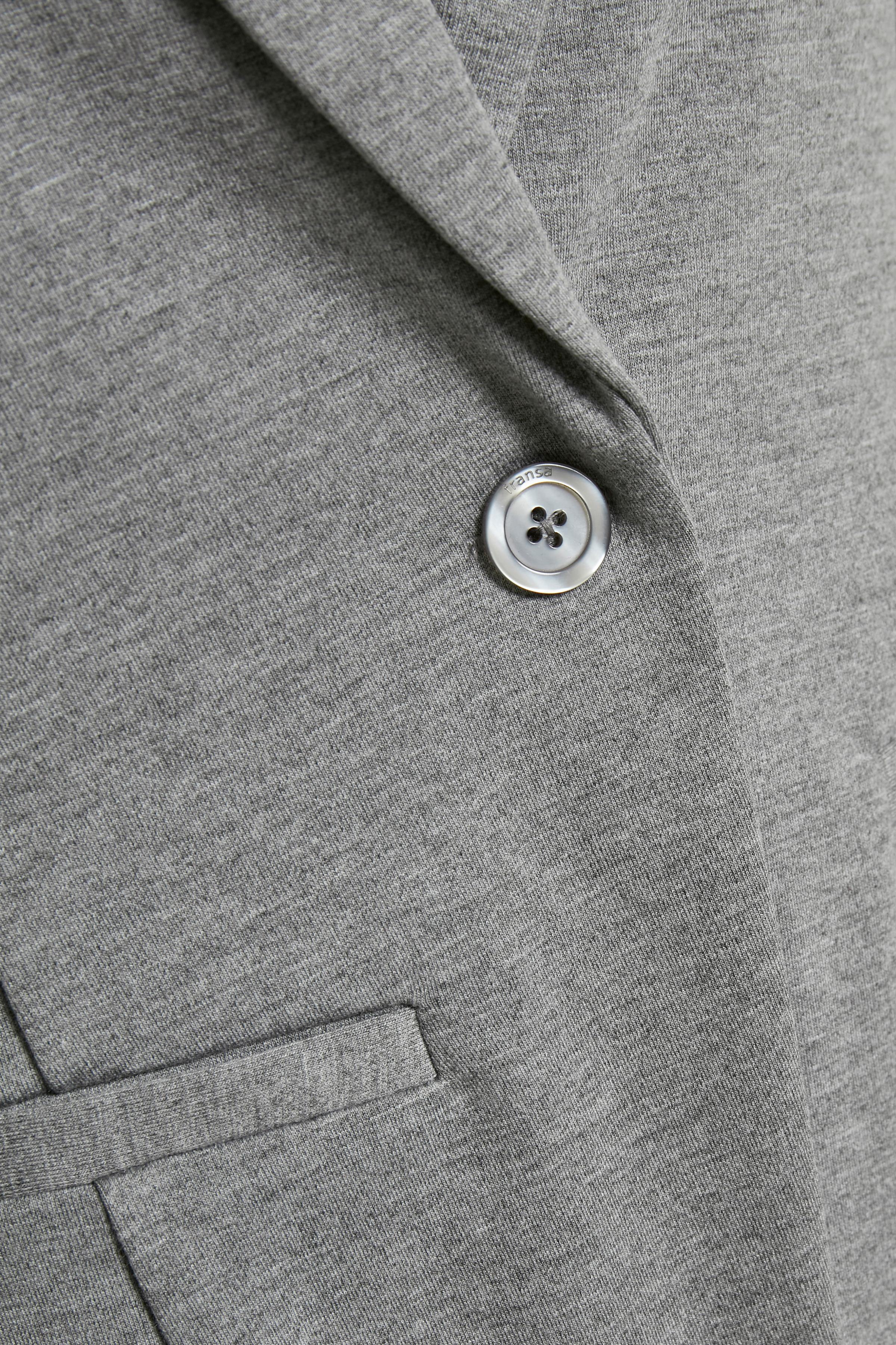 Mørk gråmeleret Blazer fra Fransa – Køb Mørk gråmeleret Blazer fra str. XS-XXL her