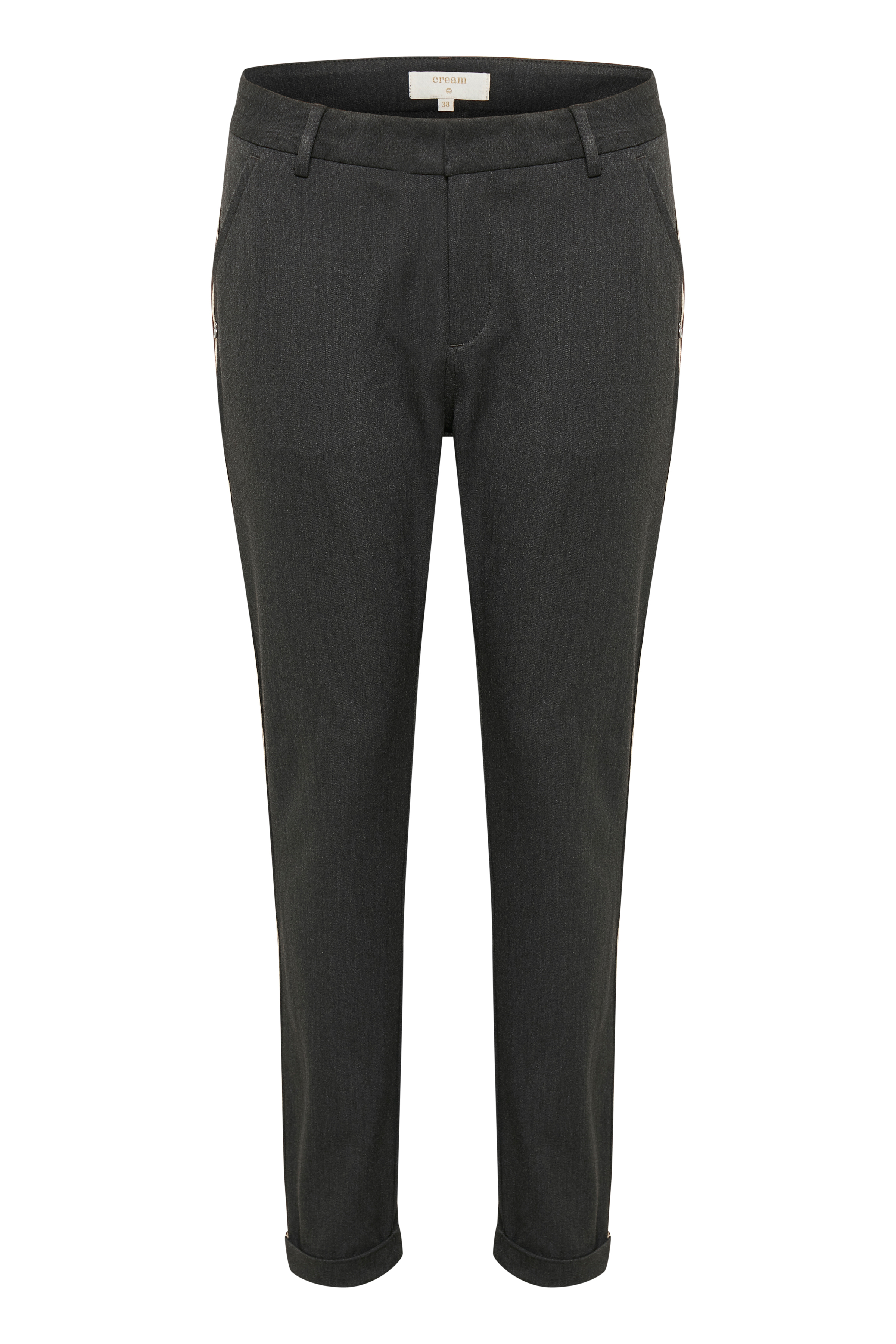 Mørk gråmeleret Casual bukser fra Cream – Køb Mørk gråmeleret Casual bukser fra str. 34-46 her