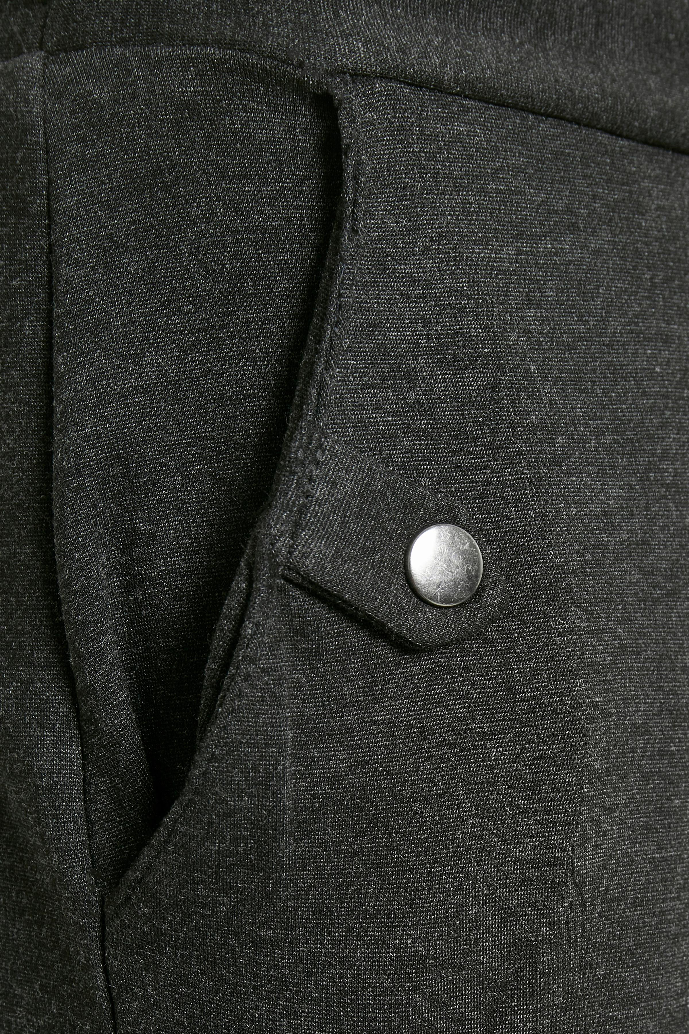 Mørk gråmeleret Casual bukser fra Fransa – Køb Mørk gråmeleret Casual bukser fra str. XS-XXL her