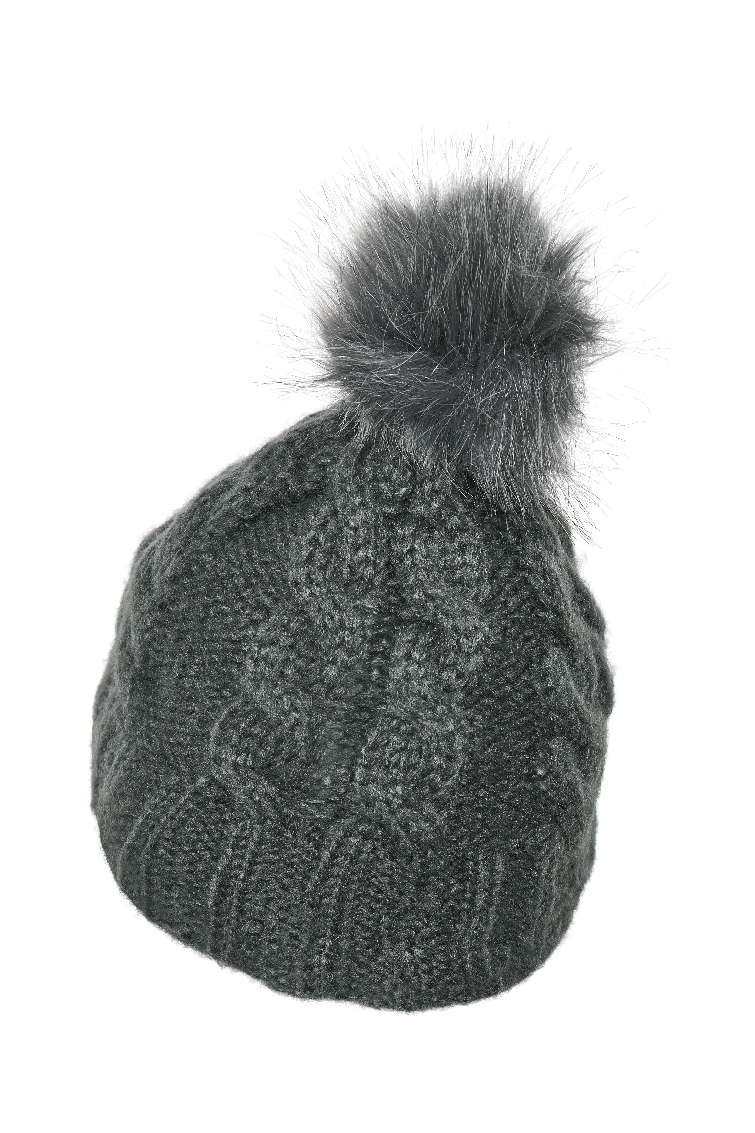 Mørk gråmeleret Hue fra Ichi - accessories – Køb Mørk gråmeleret Hue fra str. ONE her