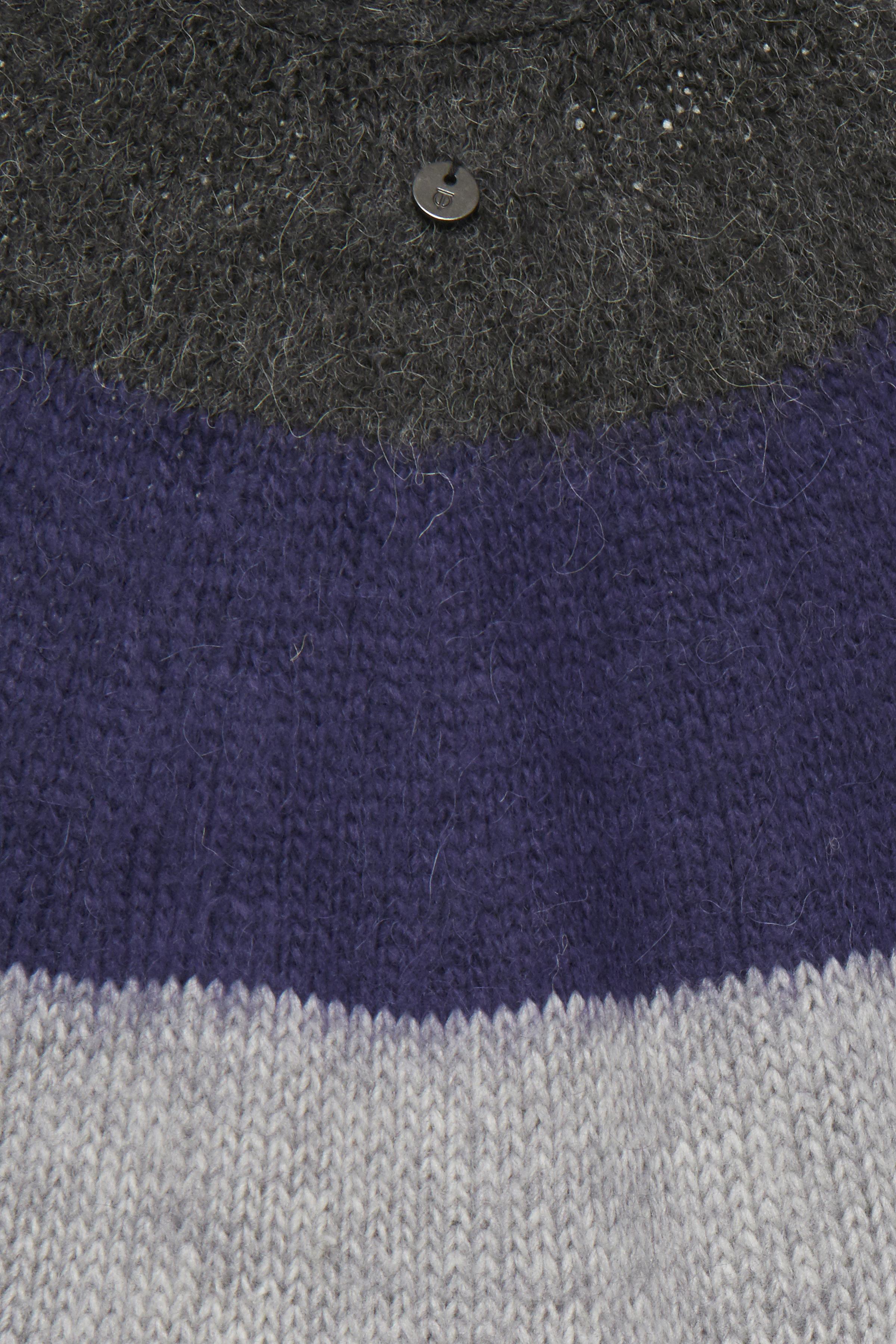 Mørk gråmeleret/lilla Strikpullover fra Pulz Jeans – Køb Mørk gråmeleret/lilla Strikpullover fra str. XS-XXL her