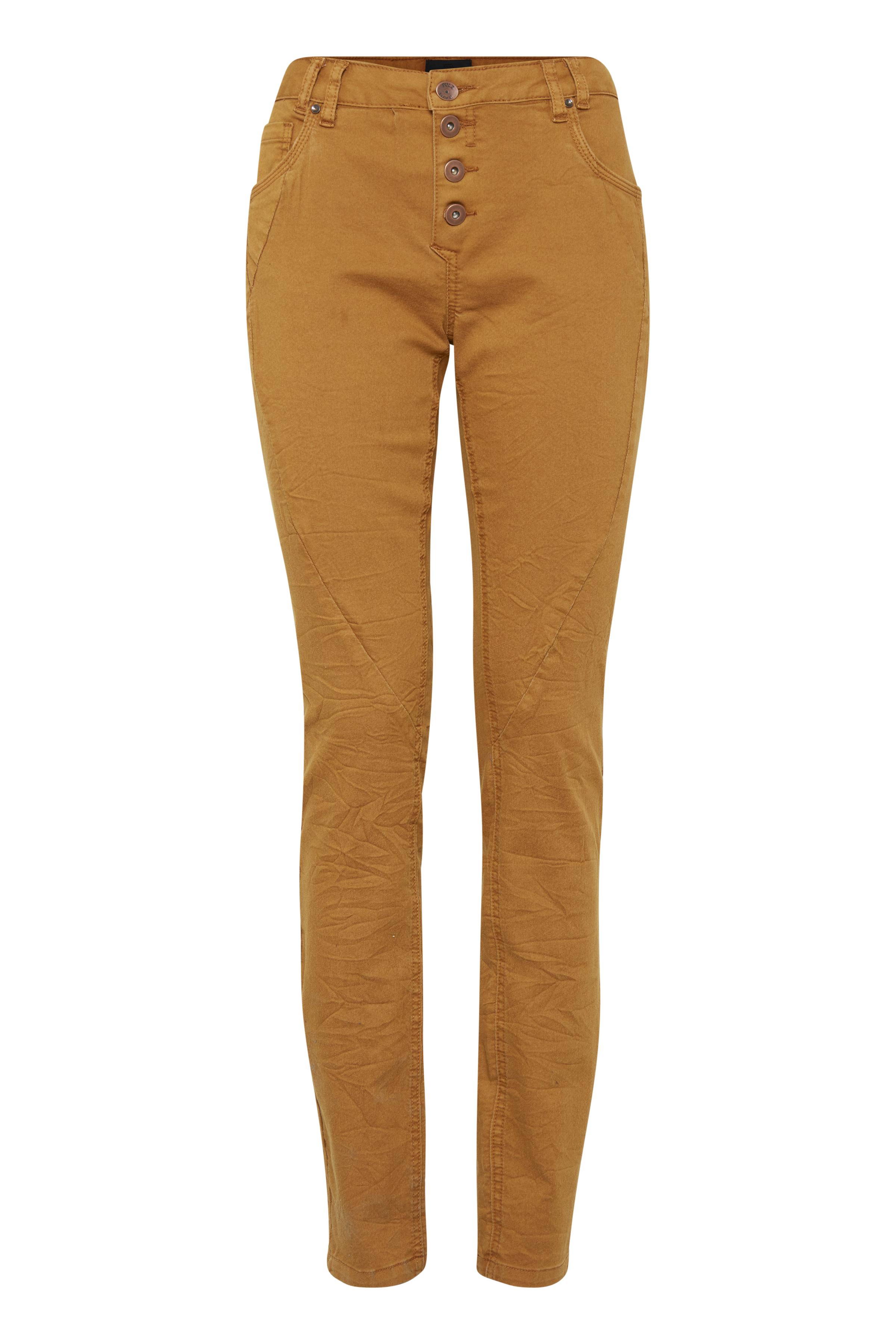 Mørk karry Casual bukser fra Pulz Jeans – Køb Mørk karry Casual bukser fra str. 32-46 her