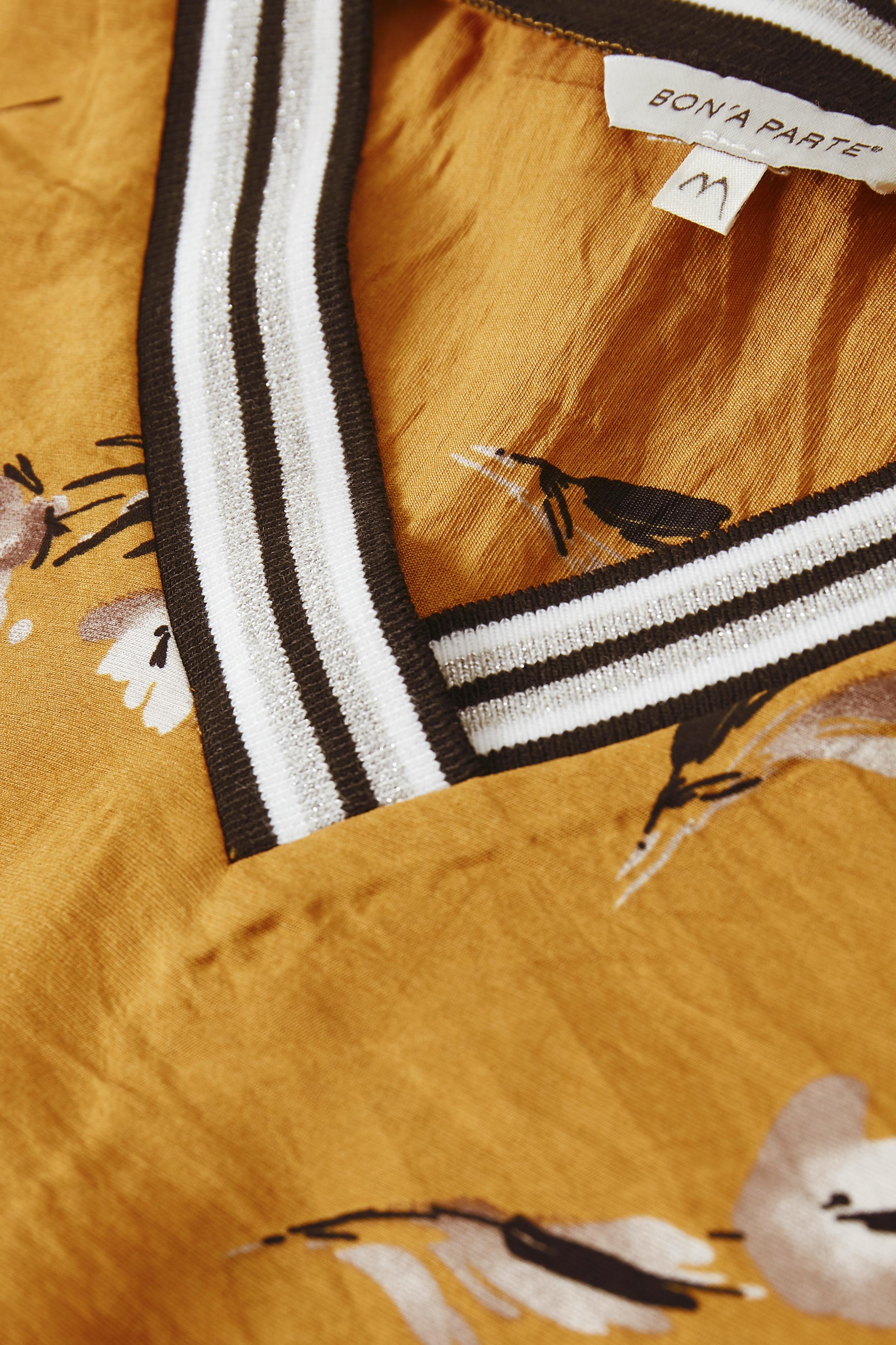 Mørk karry Langærmet bluse  fra Bon'A Parte – Køb Mørk karry Langærmet bluse  fra str. S-2XL her