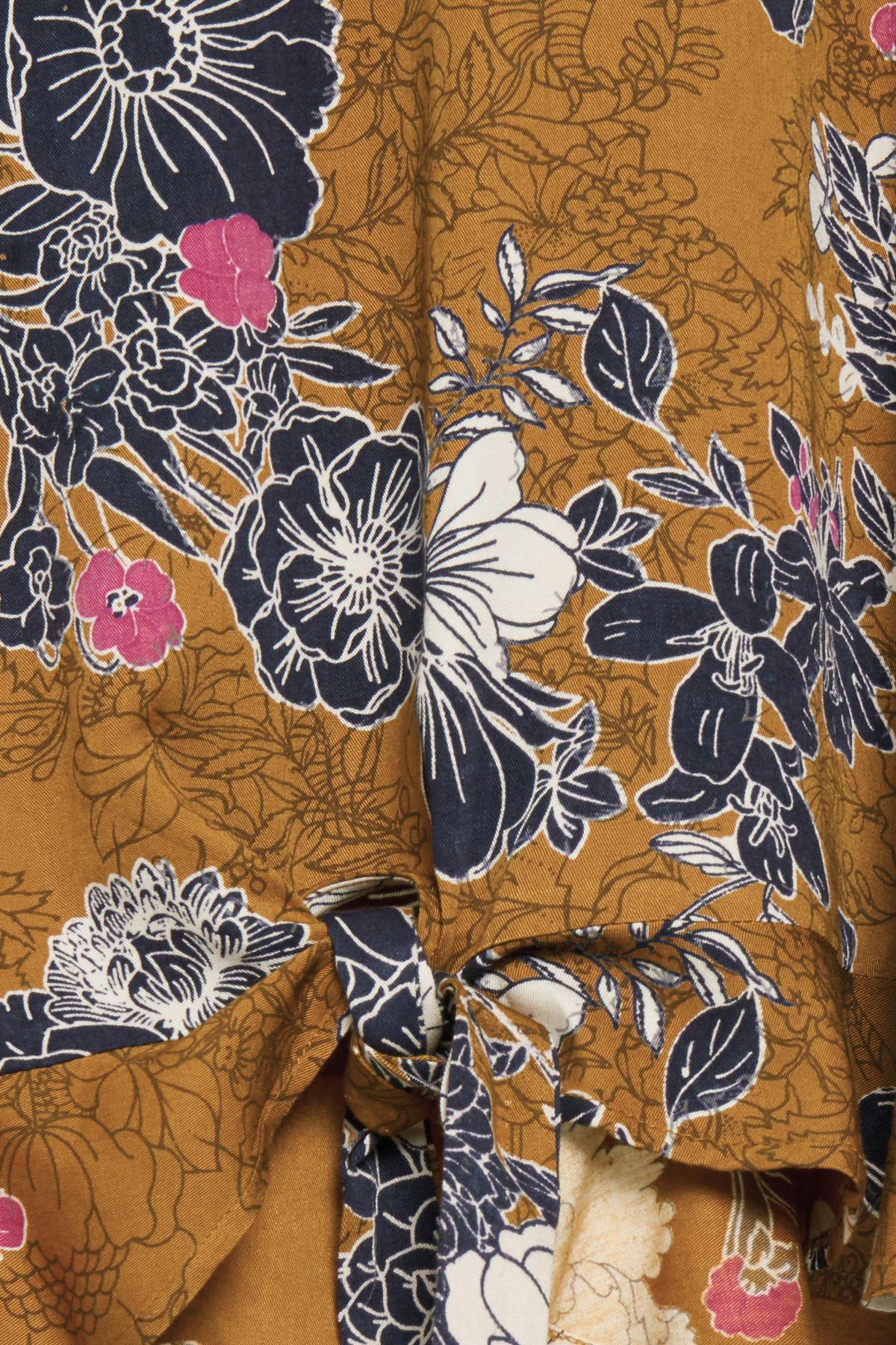 Mørk karry/marineblå Langærmet bluse fra Fransa – Køb Mørk karry/marineblå Langærmet bluse fra str. XS-XXL her