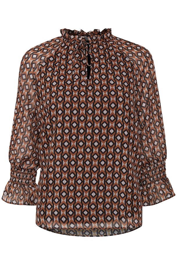 f3ecf502c90d Mørk karry off-white Langærmet bluse fra Fransa – Køb Mørk karry off-white  Langærmet bluse fra str. XS-XXL her