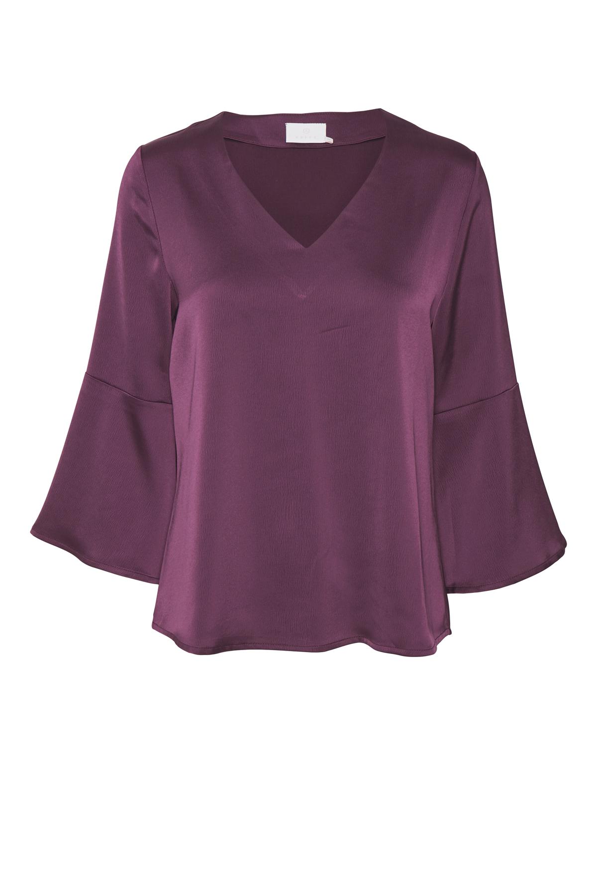 Mørk lilla Langærmet bluse fra Kaffe – Køb Mørk lilla Langærmet bluse fra str. 34-46 her