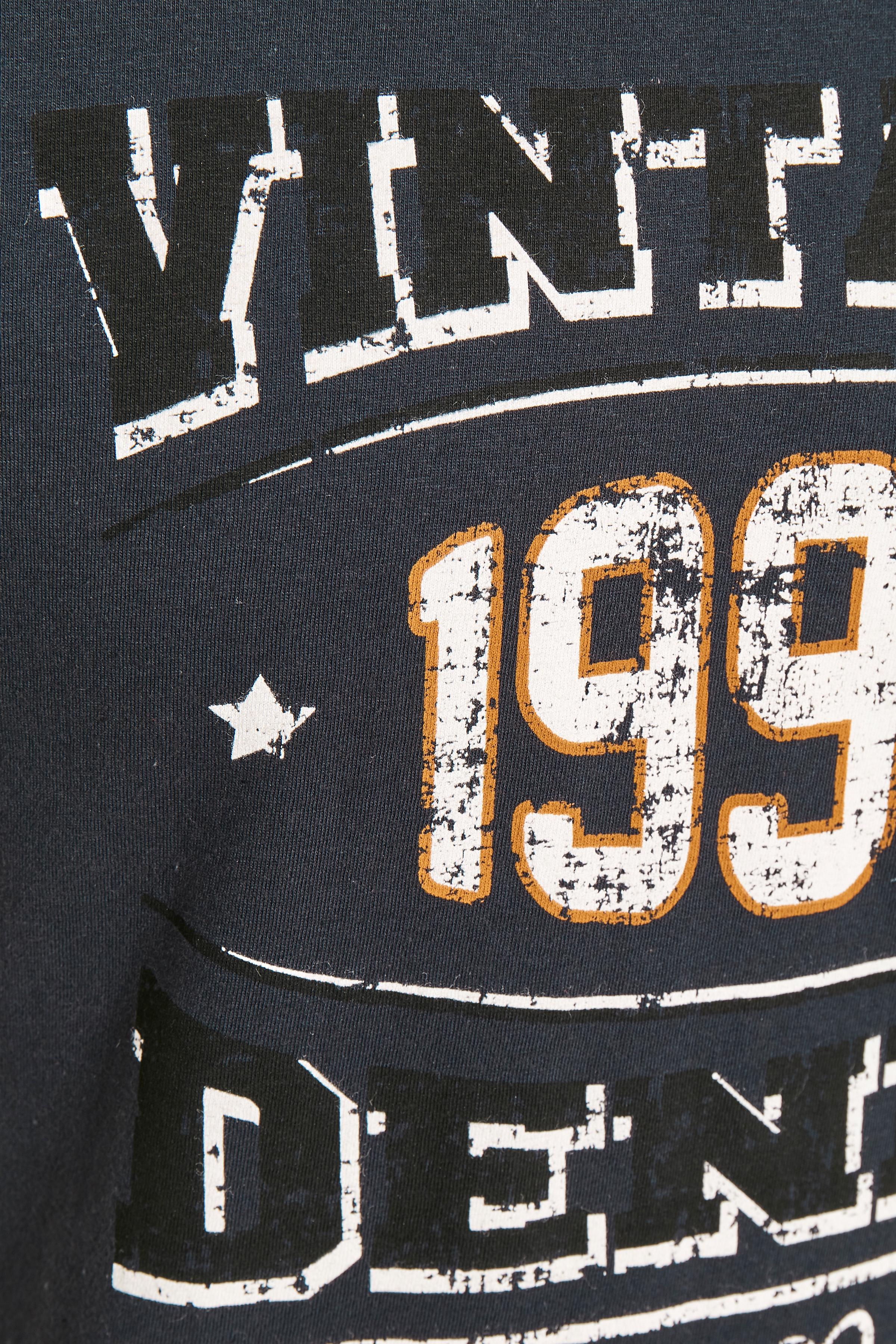 Mørk marineblå Kortærmet T-shirt fra Blend He – Køb Mørk marineblå Kortærmet T-shirt fra str. S-3XL her