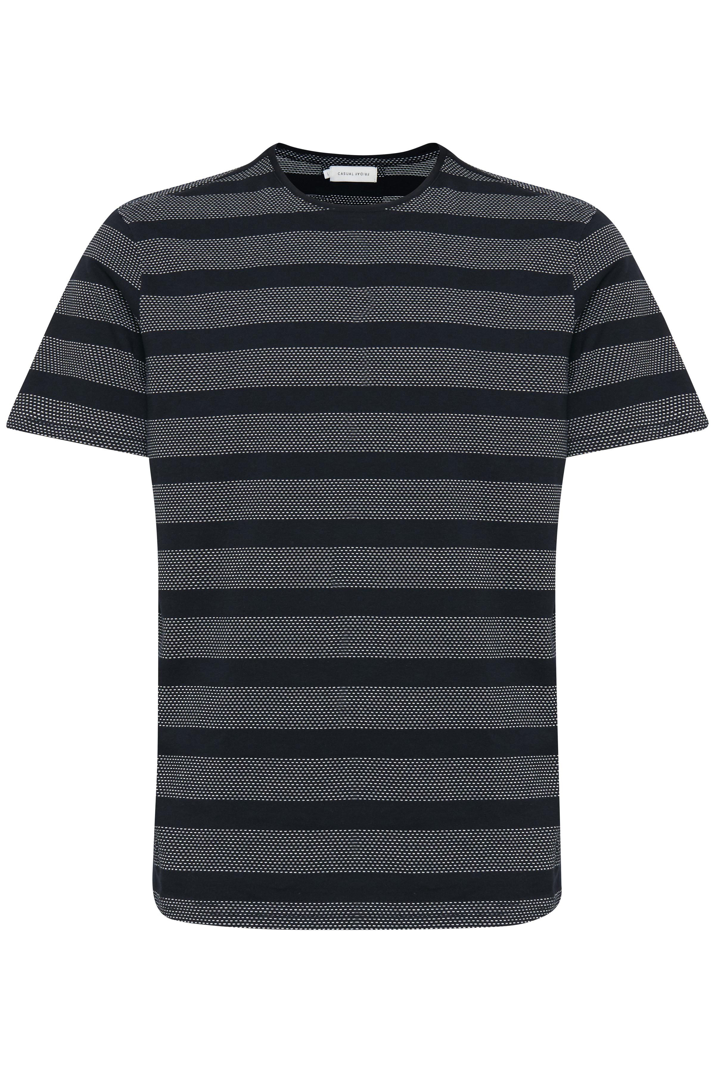 Mørk marineblå Kortærmet T-shirt fra Casual Friday – Køb Mørk marineblå Kortærmet T-shirt fra str. S-3XL her