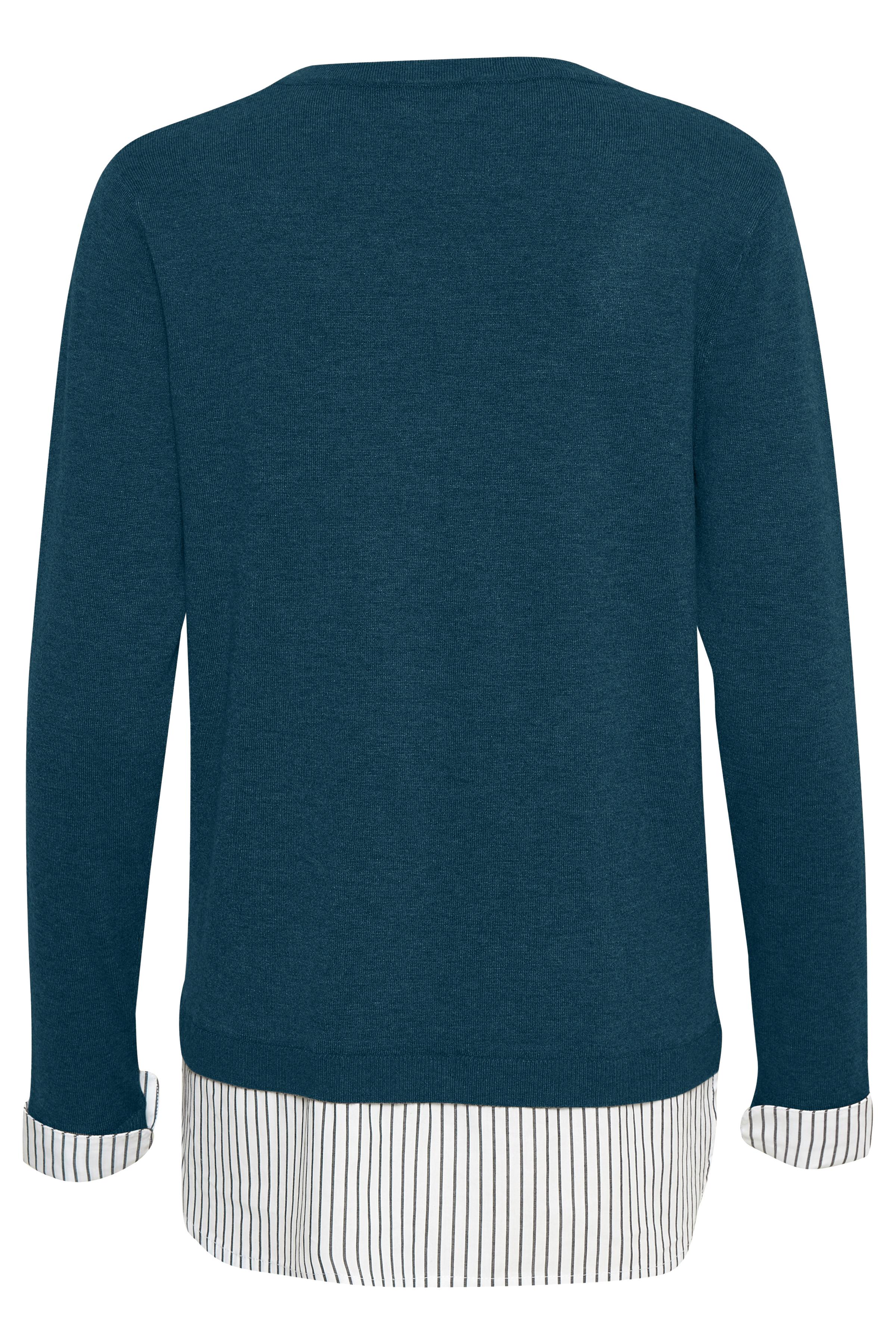Mørk marineblå Langærmet bluse fra Bon'A Parte – Køb Mørk marineblå Langærmet bluse fra str. S-2XL her