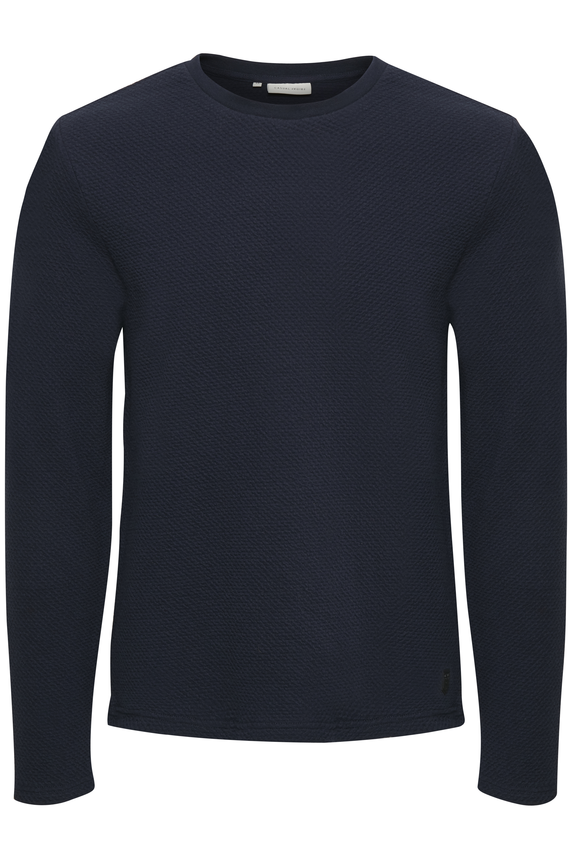 Casual Friday Herre Sweatshirt - Mørk marineblå