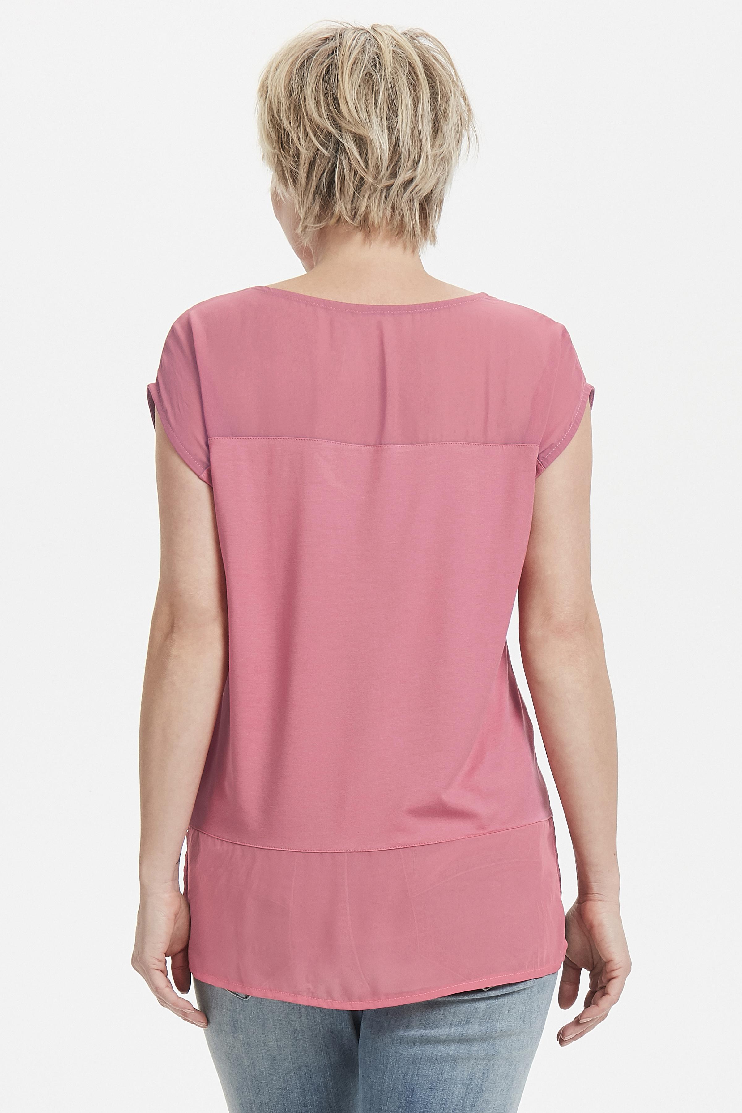 Mørk rosa Kortærmet T-shirt fra Bon'A Parte – Køb Mørk rosa Kortærmet T-shirt fra str. S-2XL her