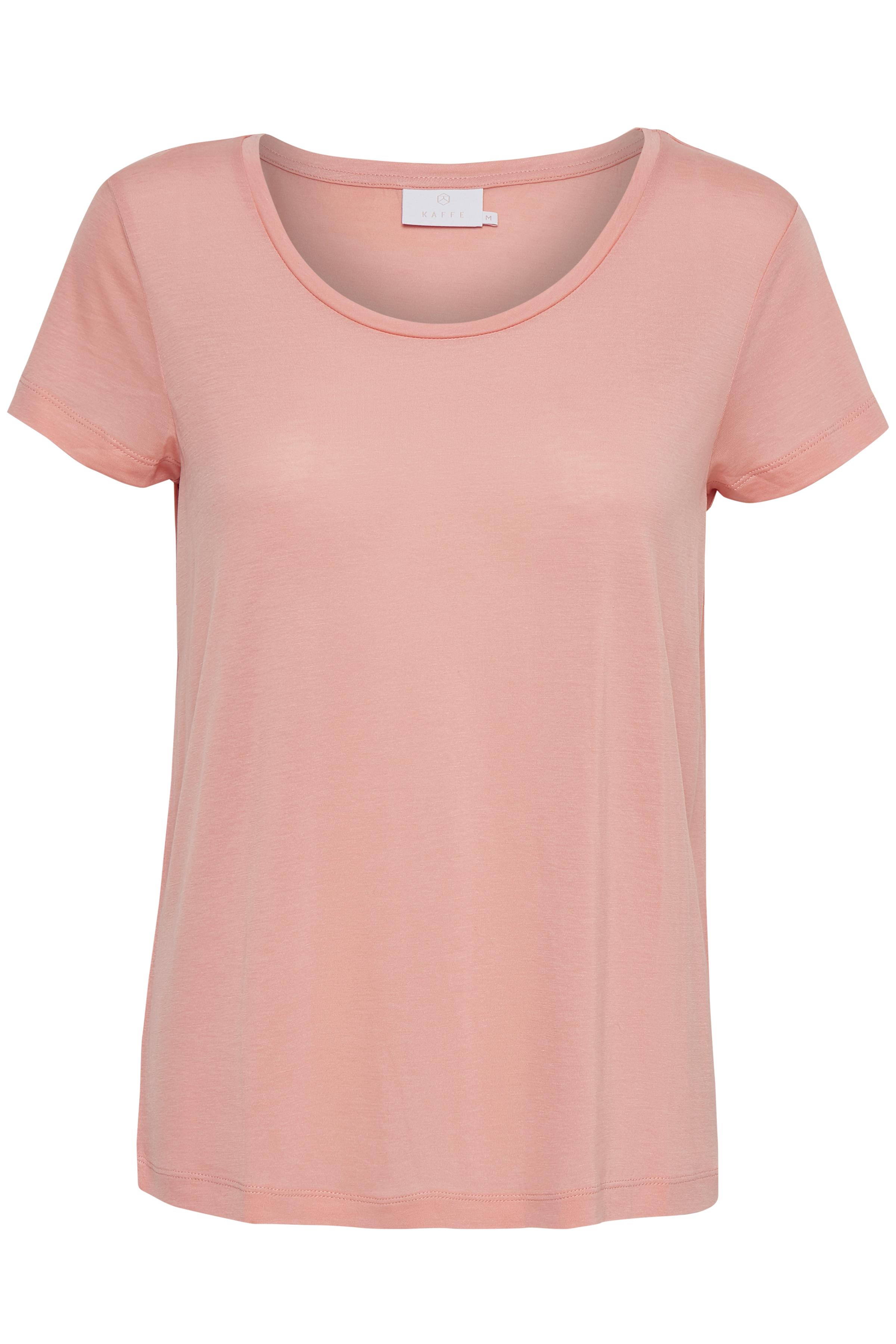 Kaffe Dame Enkel og fin Anna T-shirt  - Mørk rosa