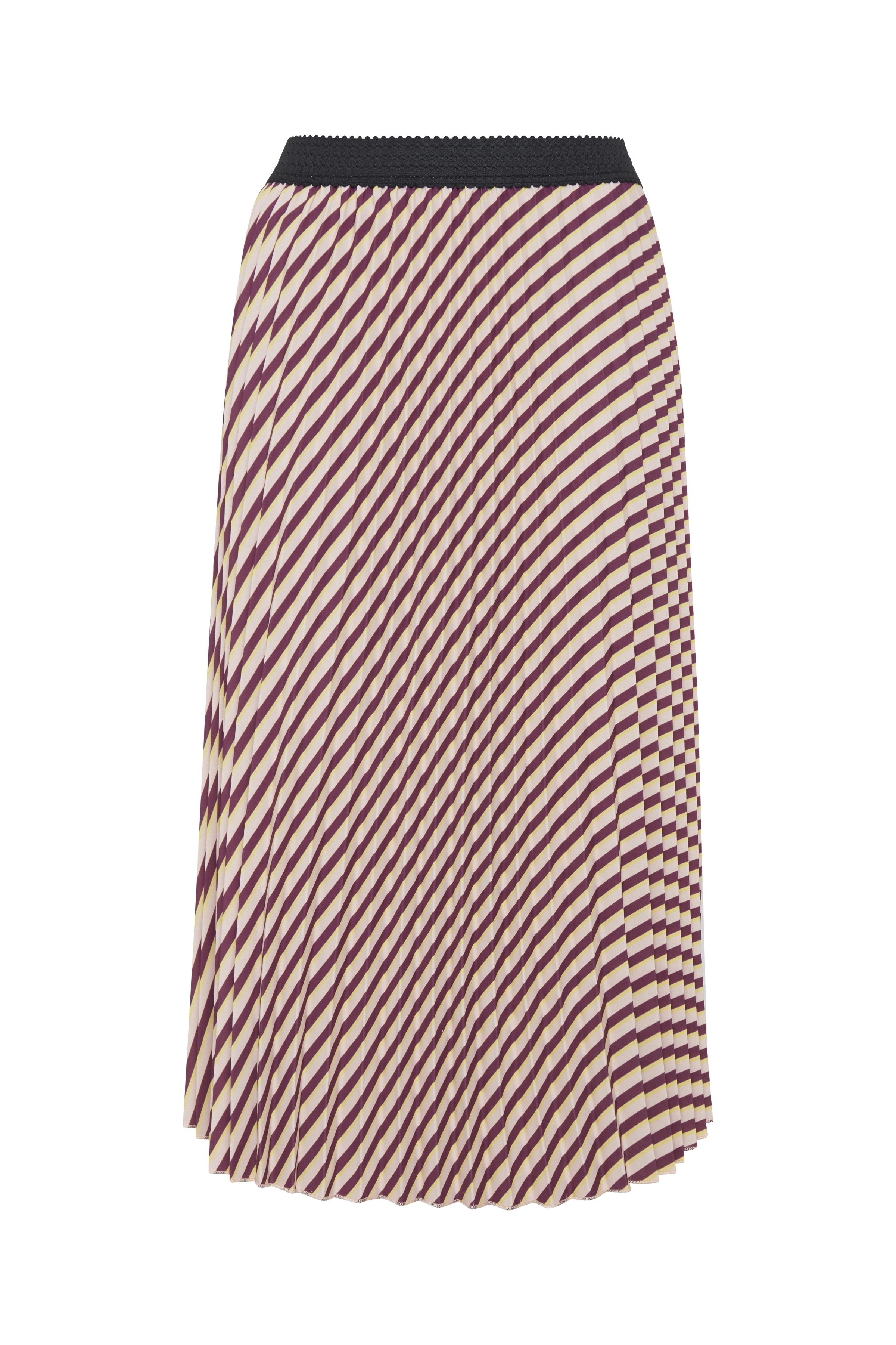 Mørk rosa/off-white Nederdel fra b.young – Køb Mørk rosa/off-white Nederdel fra str. 34-46 her