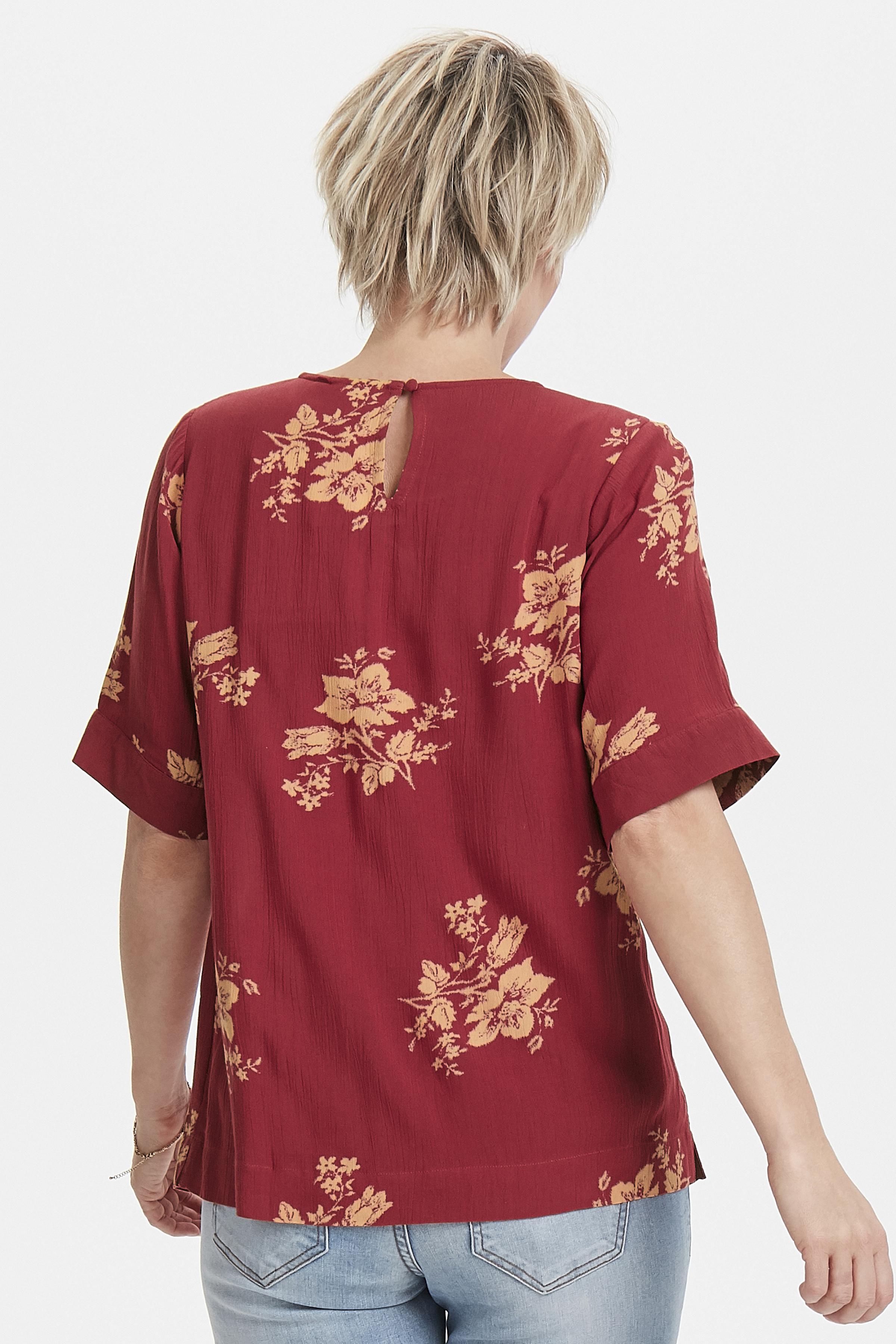 Mørk rosa/orange Bluse  fra Bon'A Parte – Køb Mørk rosa/orange Bluse  fra str. S-2XL her