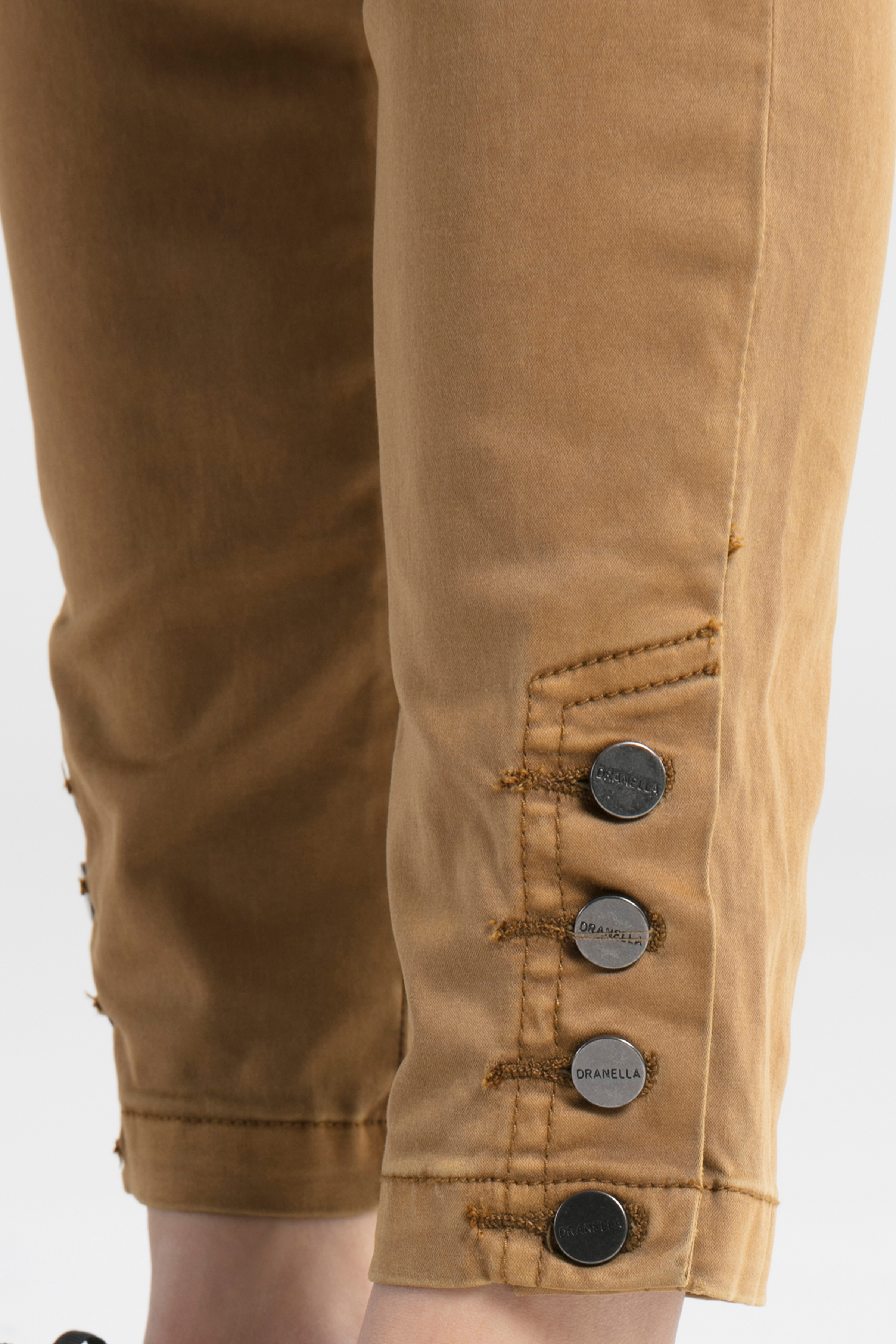 Mørk sand Casual bukser fra Dranella – Køb Mørk sand Casual bukser fra str. 32-46 her