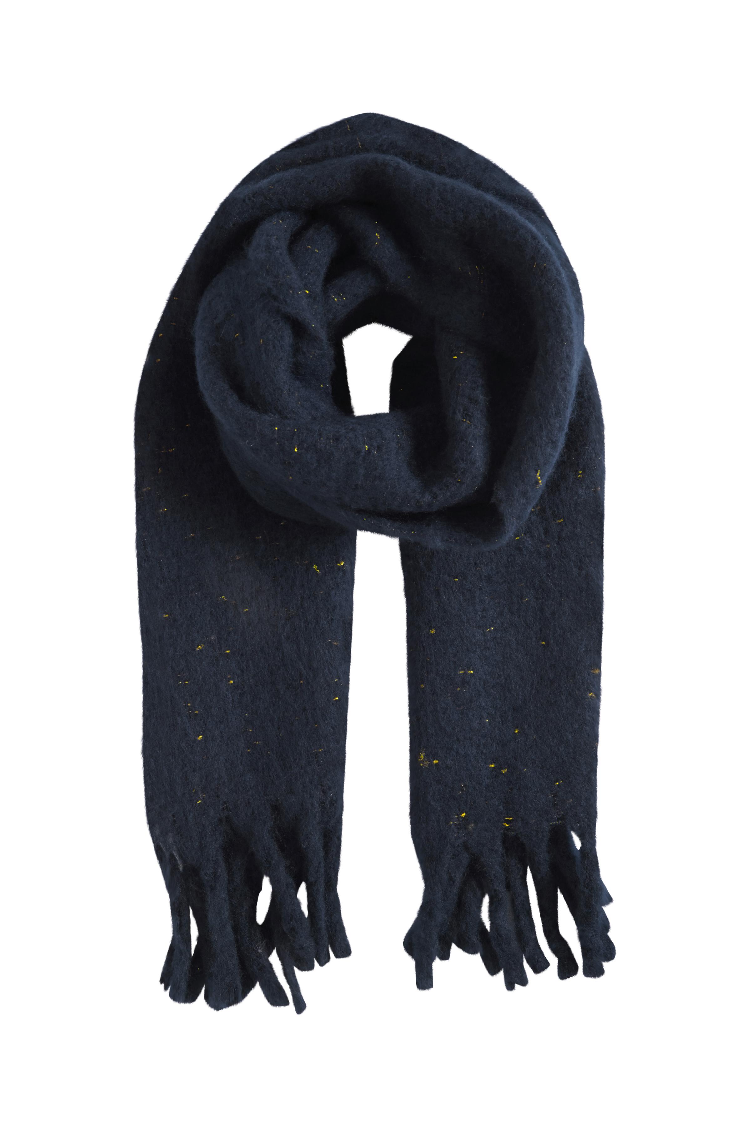 Image of Ichi - accessories Dame Halstørklæde - Mørkeblå