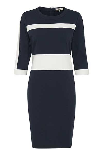 Dranella Dame Enkel og smart Nilano kjole - Mørkeblå/hvid