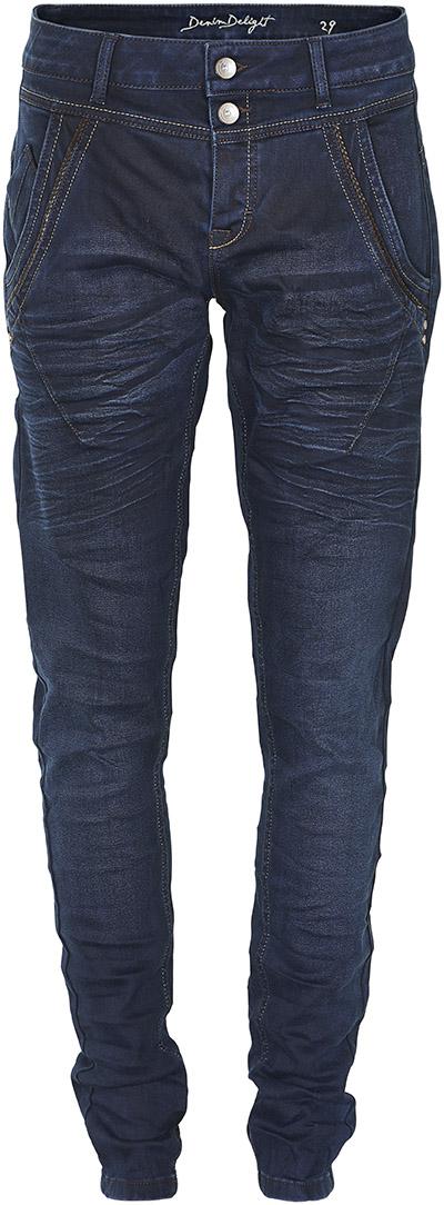 Image of Cream Dame Jeans - Mørkeblå