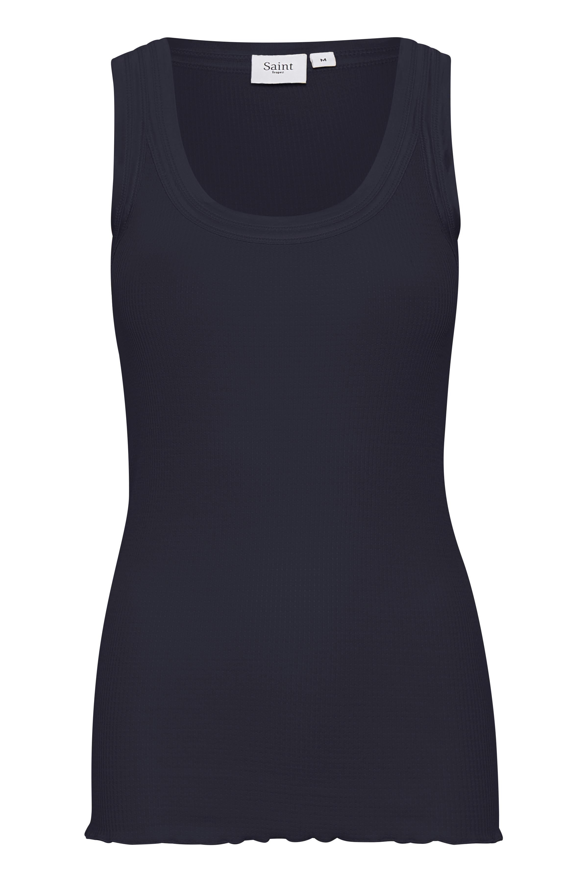Image of Saint Tropez Dame Top - Mørkeblå