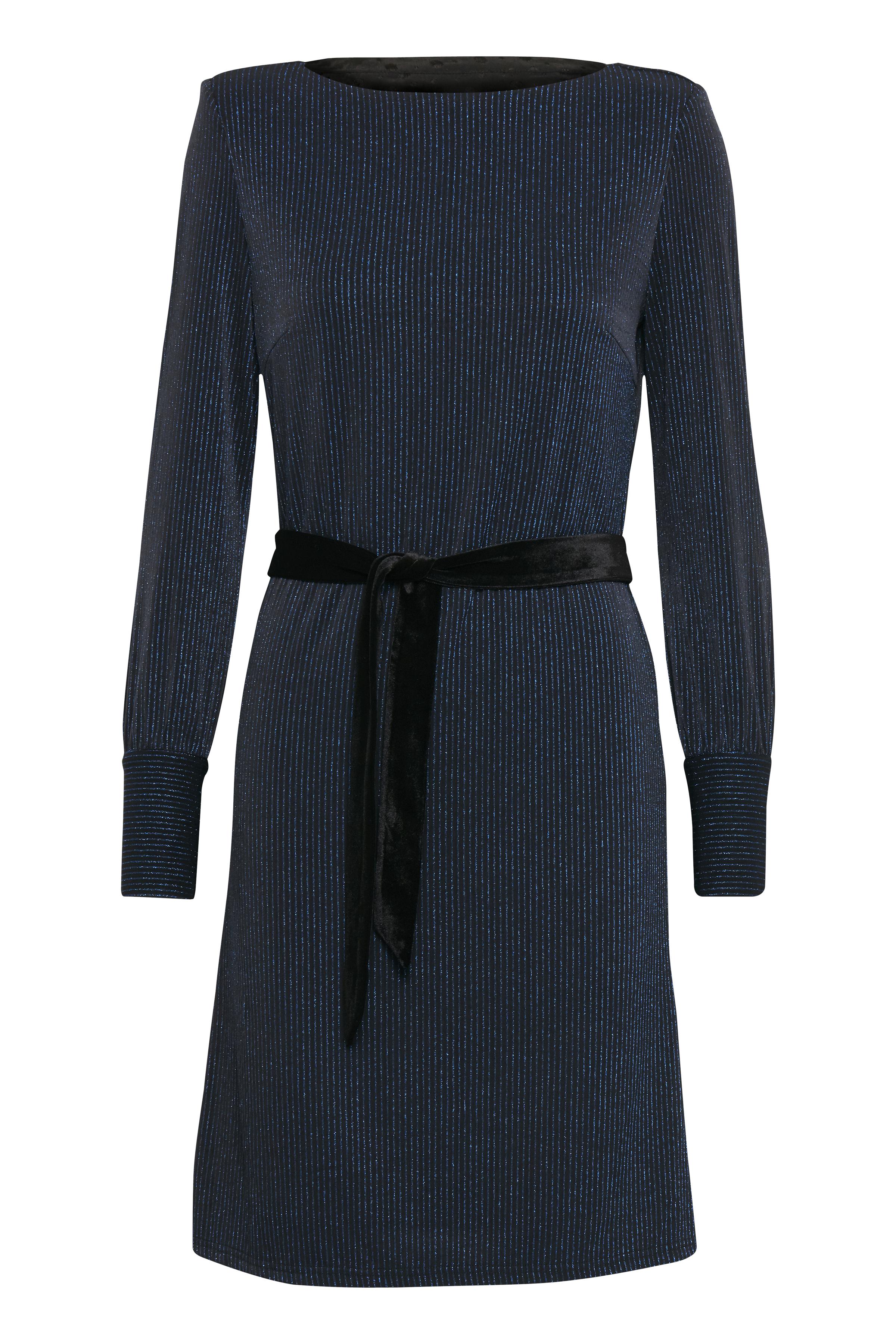 Dranella Dame Elegant kjole, som du vil elske at have på, når efterårets fester melder sig. Kjolen - Mørkeblå