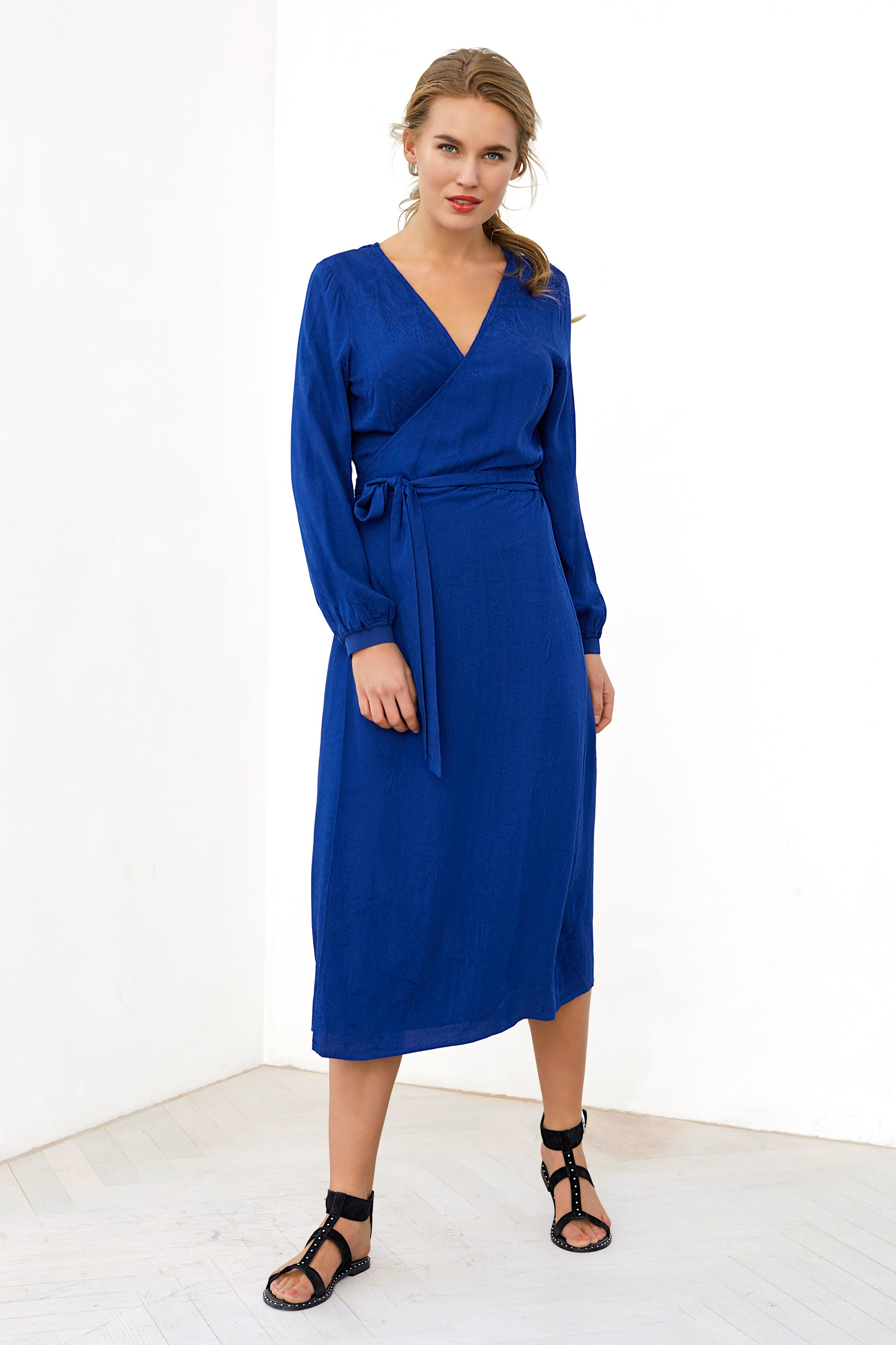 Mørkeblå Kjole fra Pulz Jeans – Køb Mørkeblå Kjole fra str. XS-XXL her