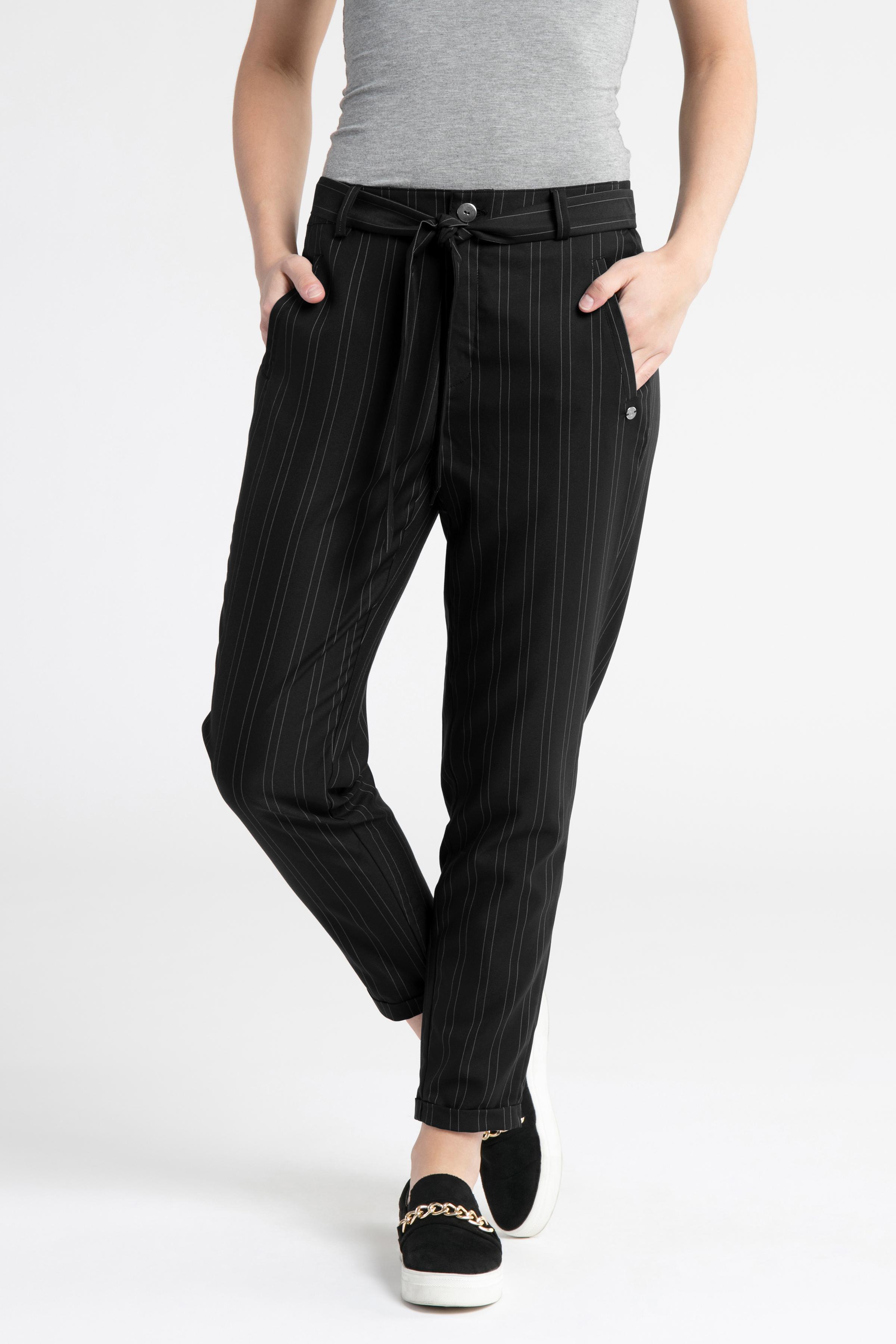 Mørkeblå/off-white Casual bukser fra Dranella – Køb Mørkeblå/off-white Casual bukser fra str. 32-46 her