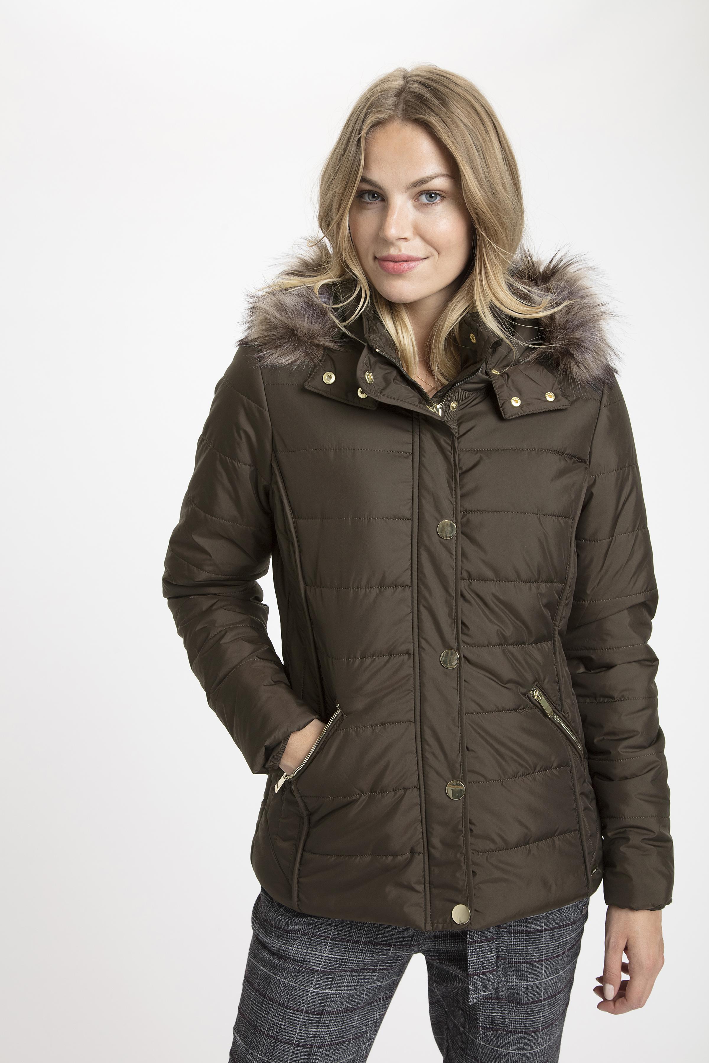 Mørkebrun Frakke fra Fransa – Køb Mørkebrun Frakke fra str. XS-XXL her