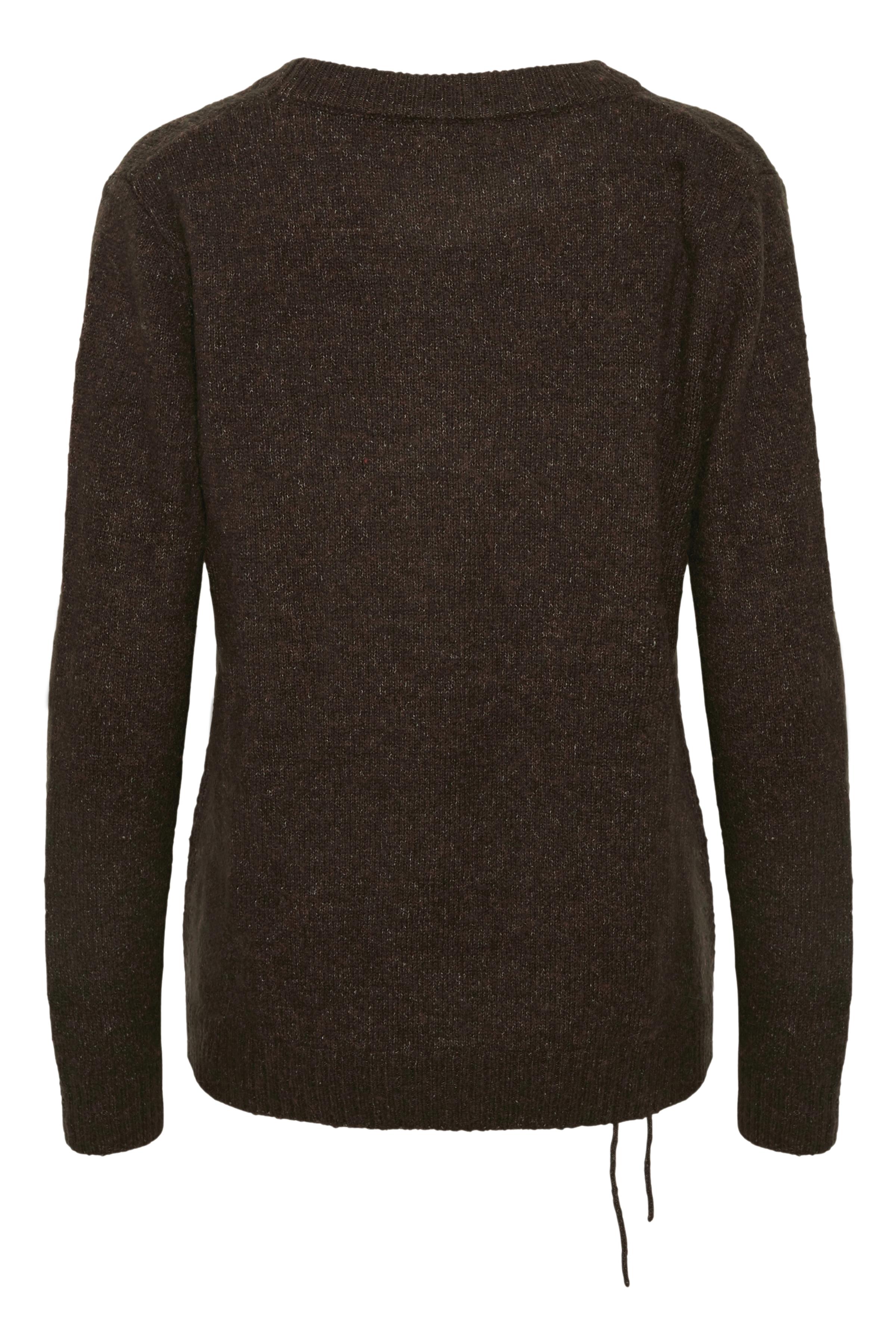 Mørkebrun Strikbluse fra Bon'A Parte – Køb Mørkebrun Strikbluse fra str. S-2XL her