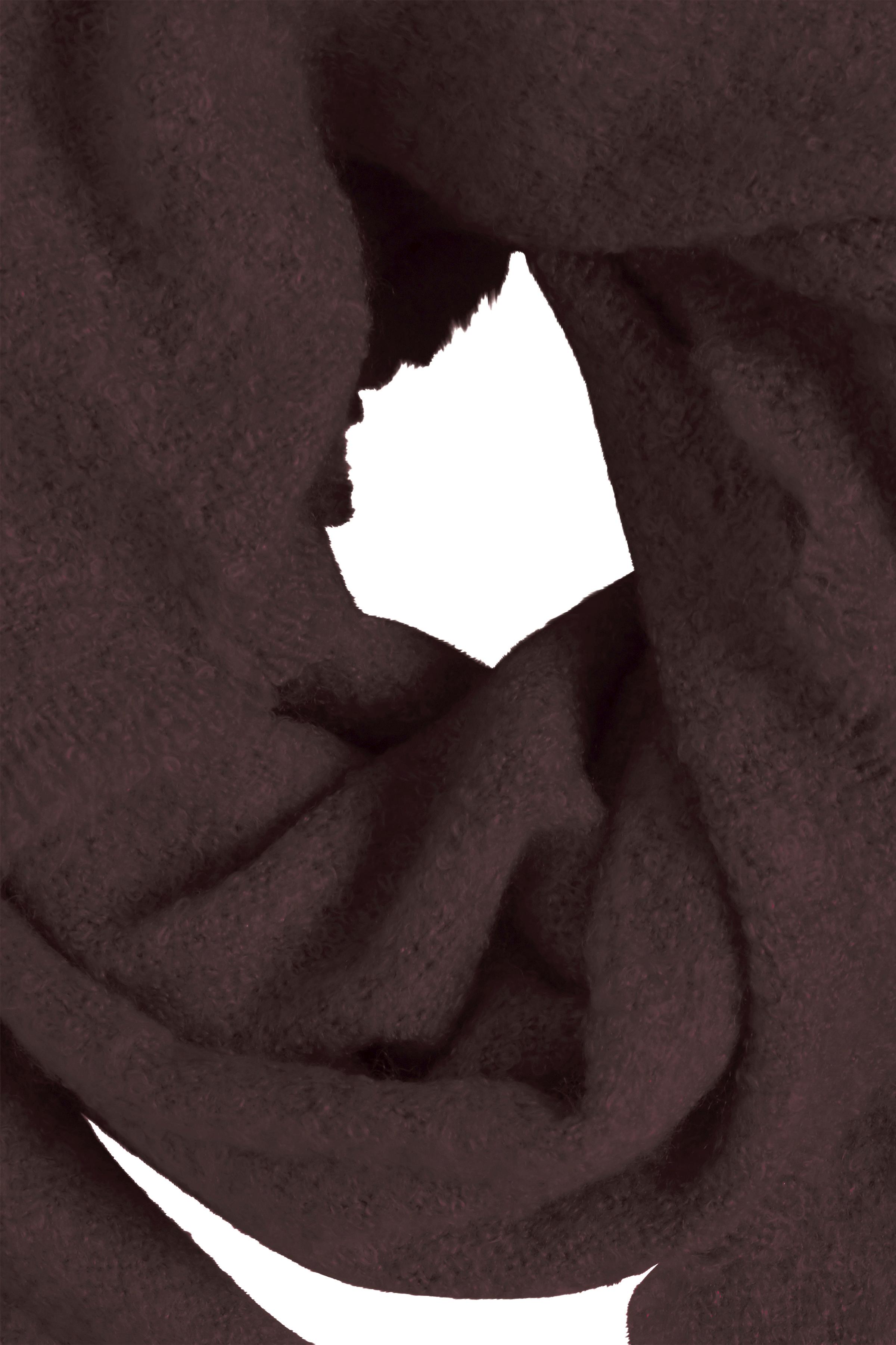 Mørkebrun Tørklæde fra Ichi - accessories – Køb Mørkebrun Tørklæde fra str. ONE her