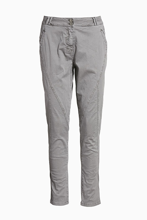 Mørkegrå Casual bukser fra Bon'A Parte – Køb Mørkegrå Casual bukser fra str. 34-54 her