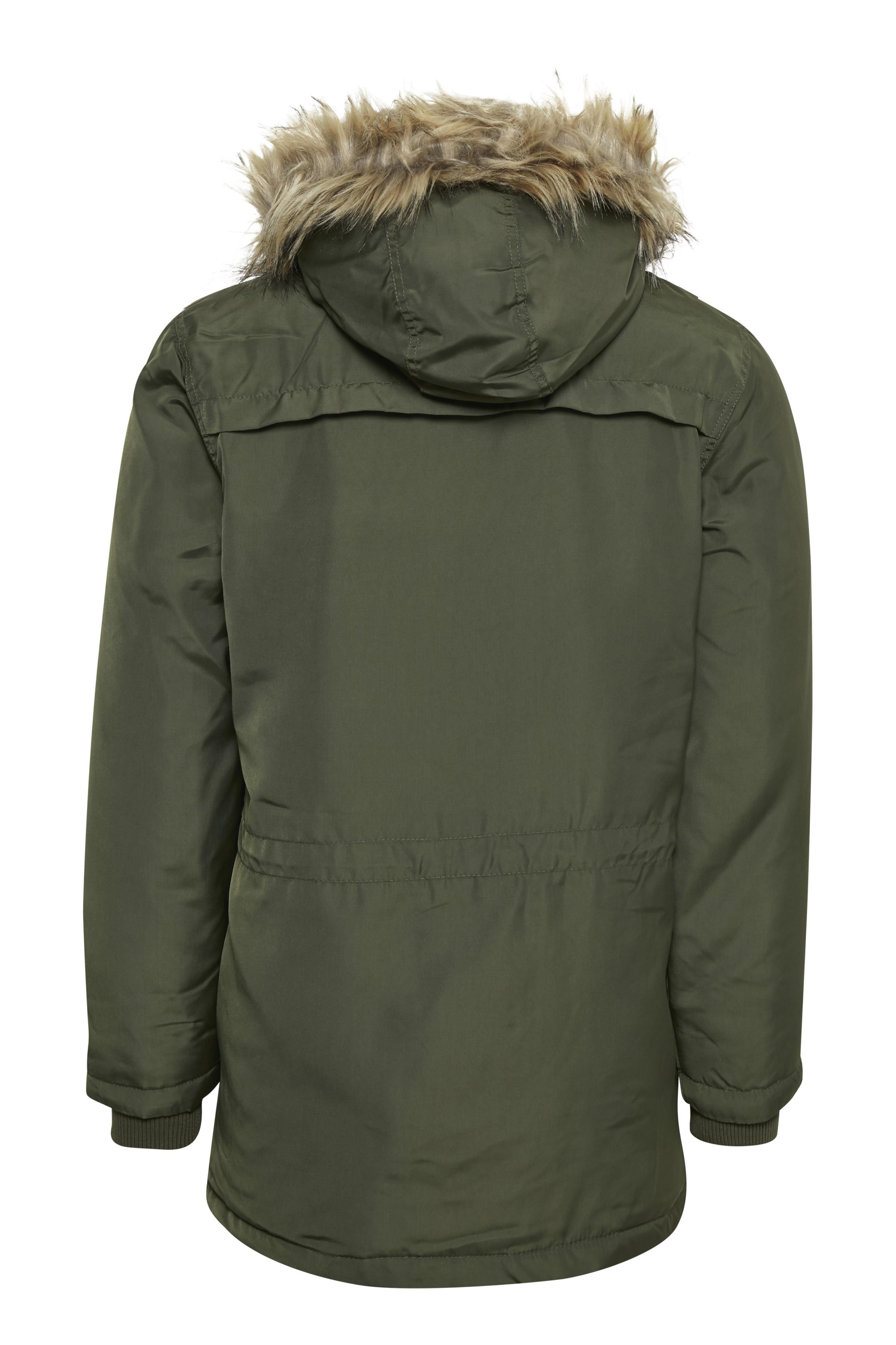 Mørkegrøn Frakke fra Blend He – Køb Mørkegrøn Frakke fra str. S-3XL her