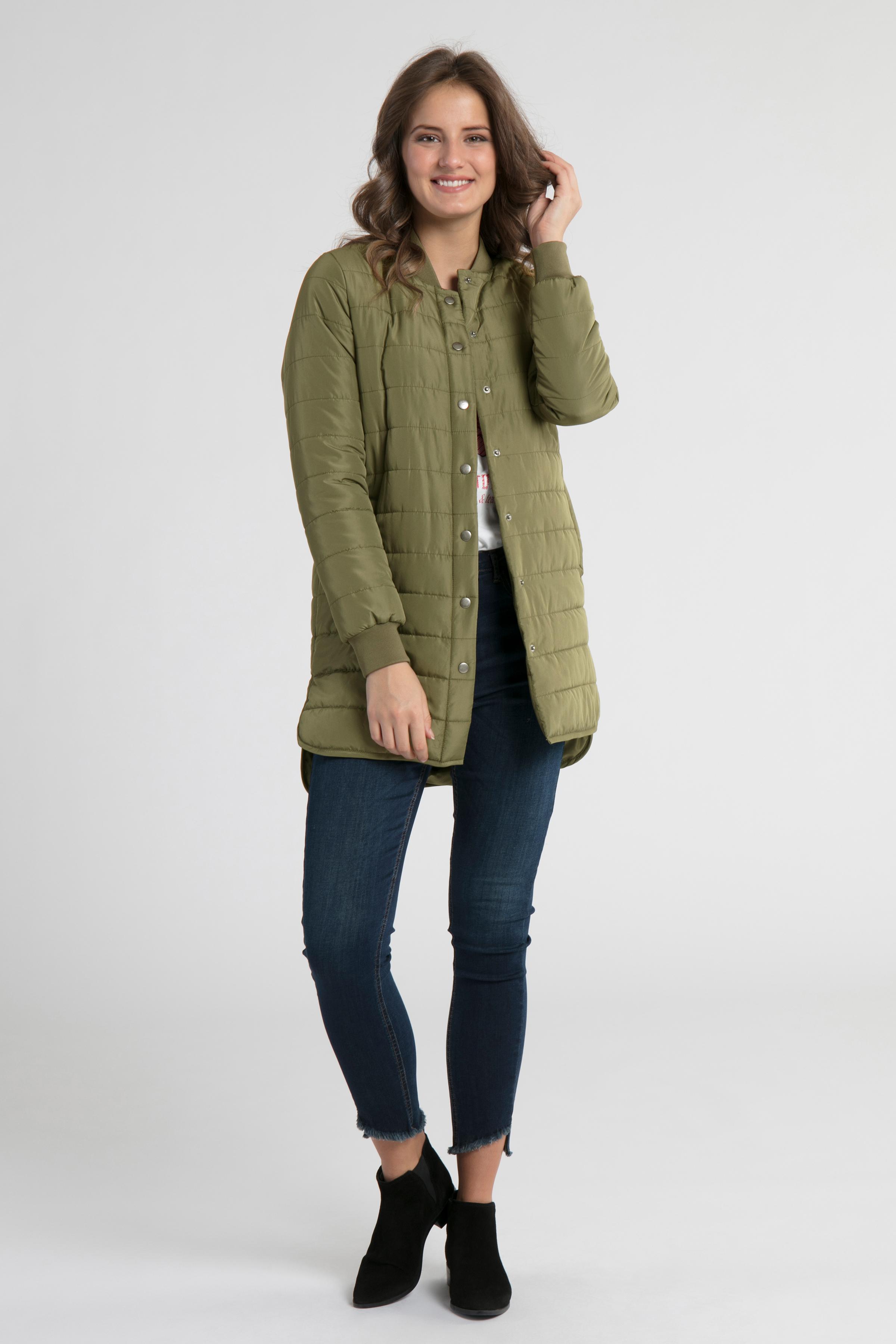 Mørkegrøn Frakke fra Bon'A Parte – Køb Mørkegrøn Frakke fra str. S-2XL her
