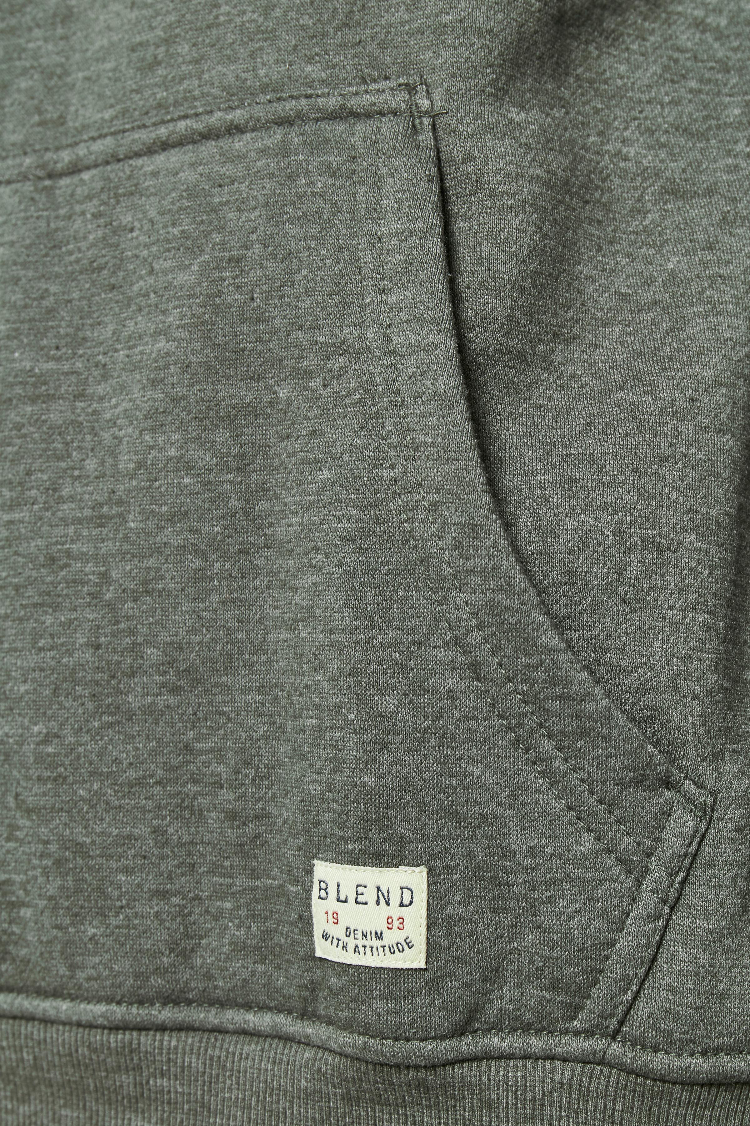 Mørkegrøn Hættetrøje fra Blend He – Køb Mørkegrøn Hættetrøje fra str. S-3XL her