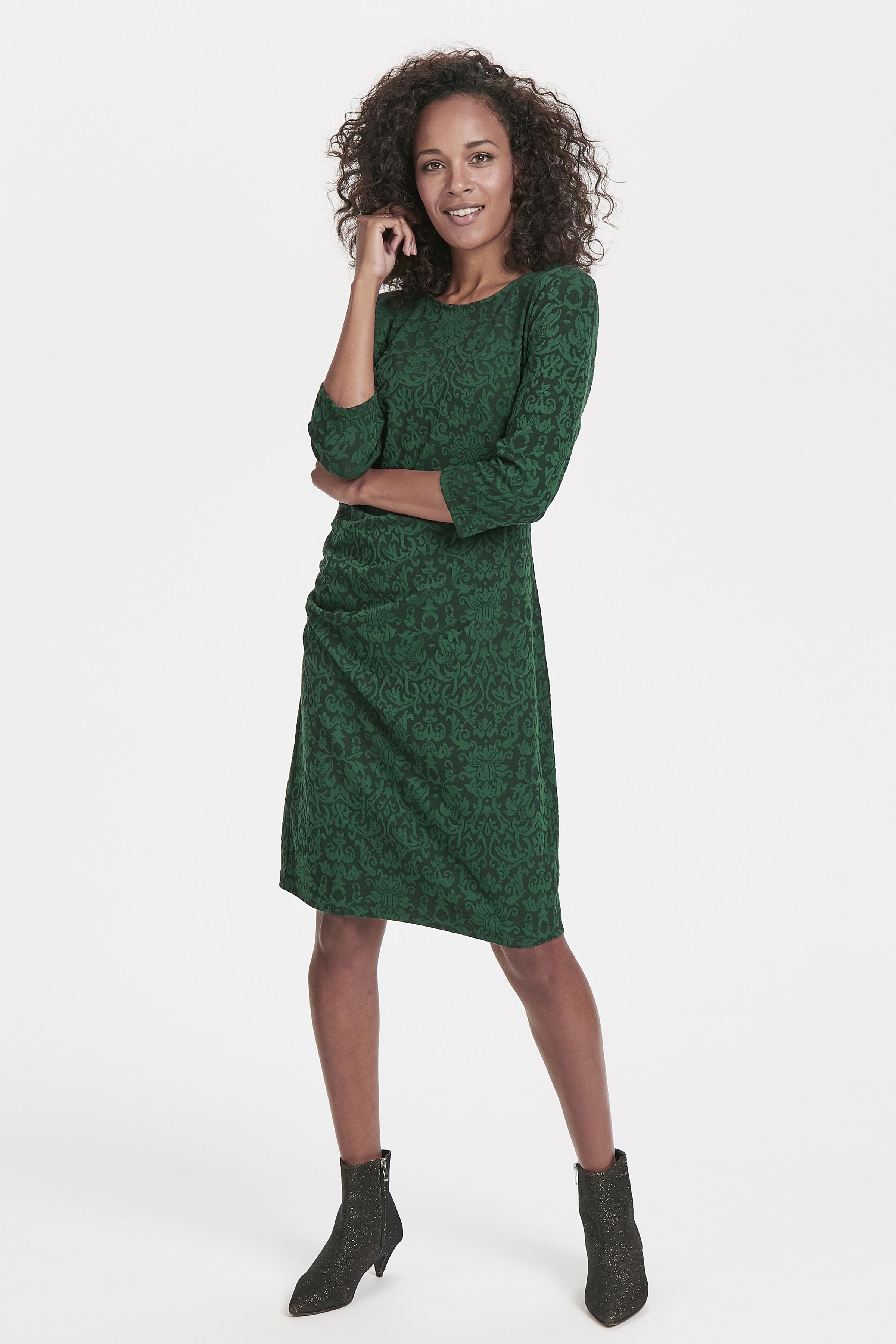 Mørkegrøn Kjole fra Bon'A Parte – Køb Mørkegrøn Kjole fra str. S-2XL her