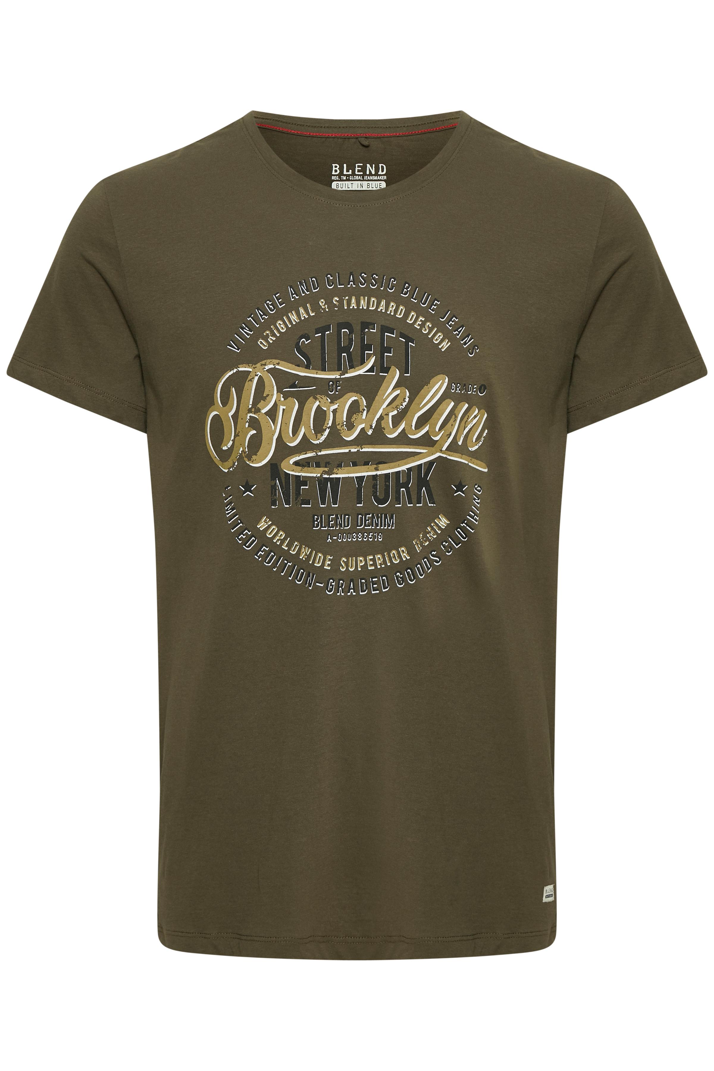 Mørkegrøn Kortærmet T-shirt fra Blend He – Køb Mørkegrøn Kortærmet T-shirt fra str. XS-3XL her