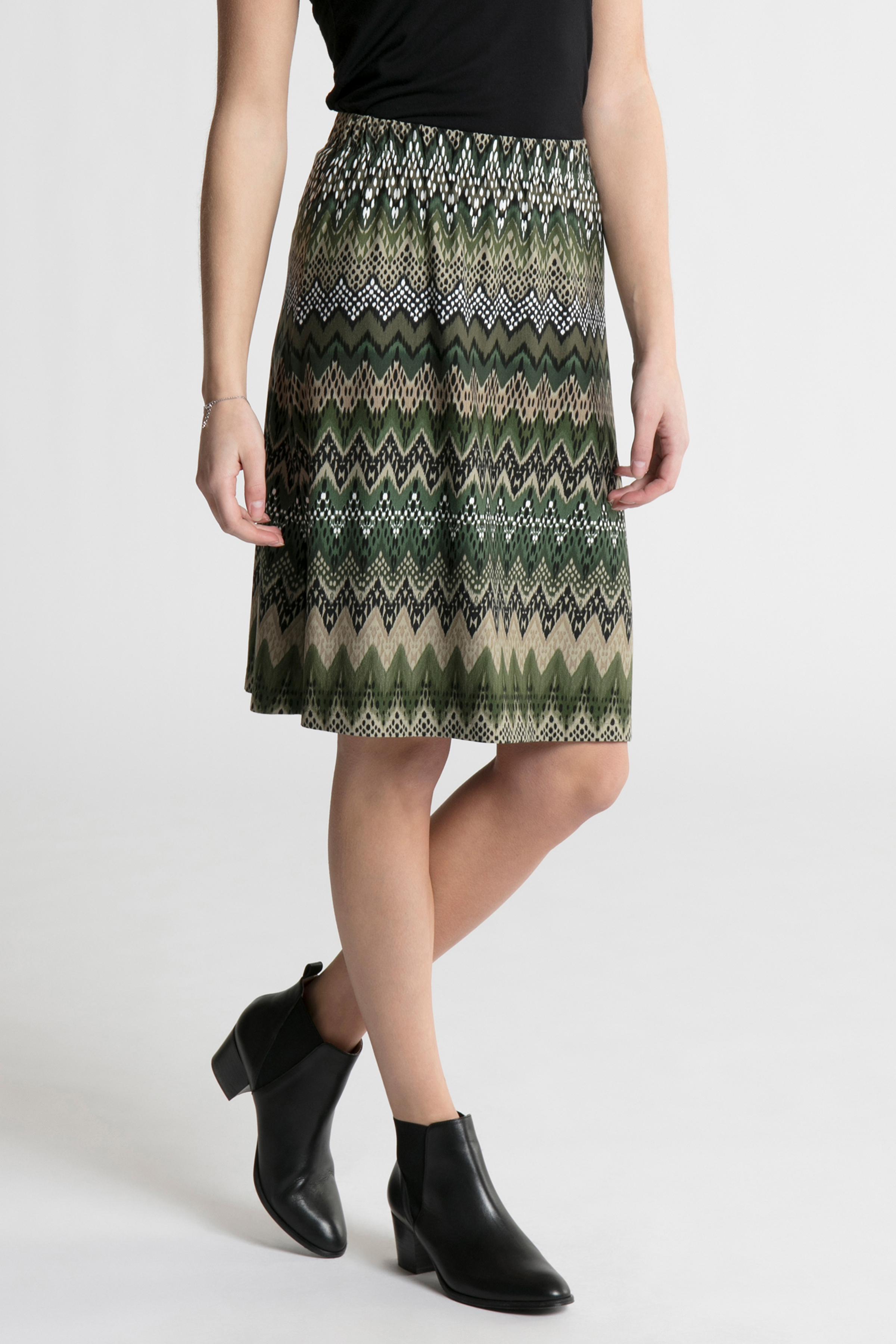 Mørkegrøn Nederdel fra Bon'A Parte – Køb Mørkegrøn Nederdel fra str. S-2XL her
