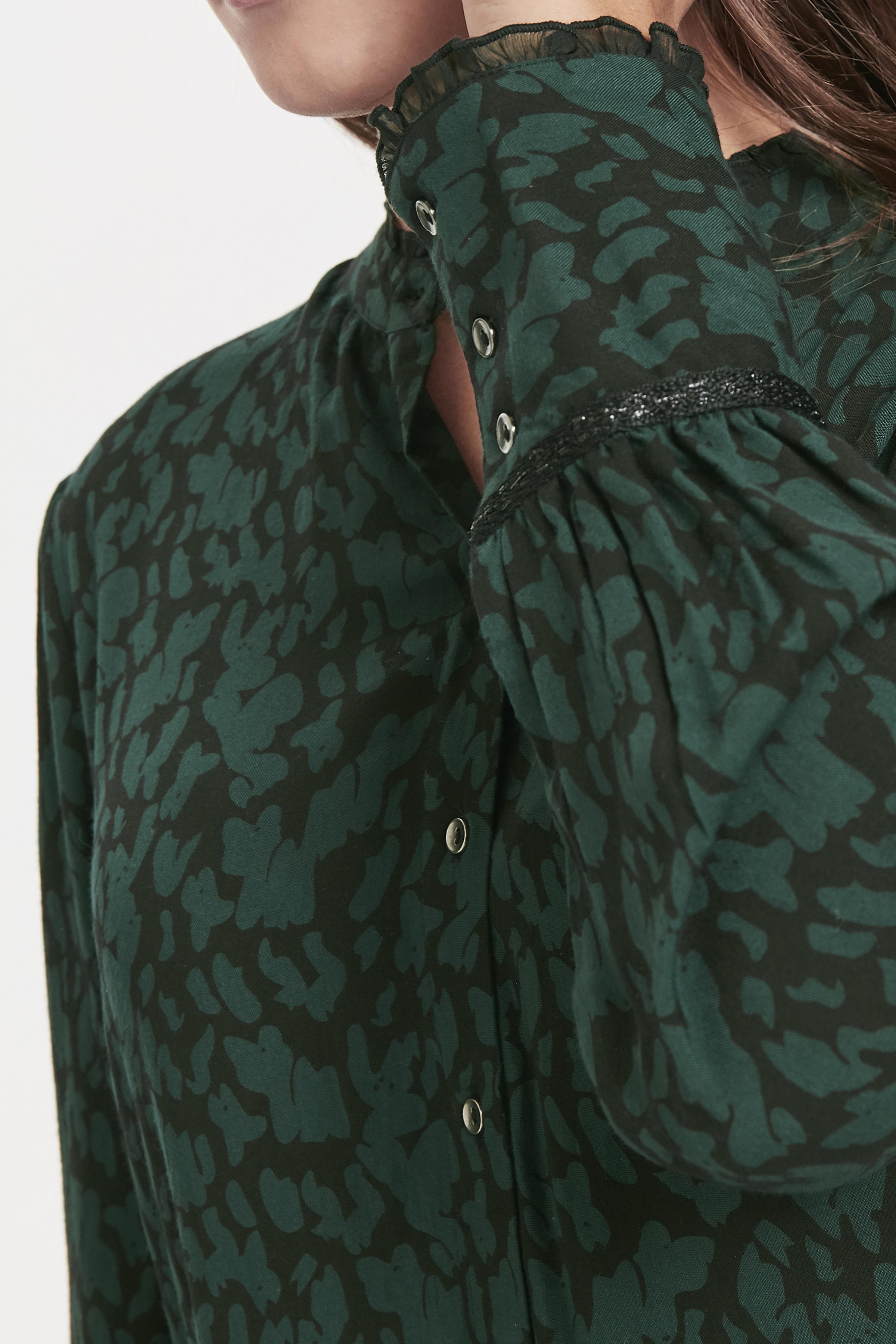 Mørkegrøn/sort Kjole fra Bon'A Parte – Køb Mørkegrøn/sort Kjole fra str. S-2XL her