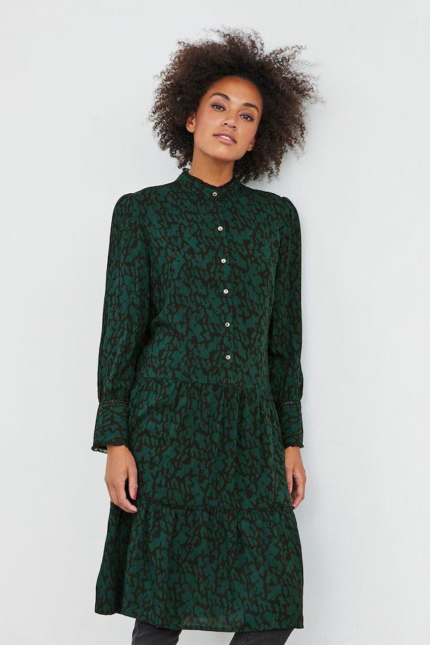 e6d295d38572 Mørkegrøn sort Kjole fra Bon A Parte – Køb Mørkegrøn sort Kjole fra str. S-2XL  her