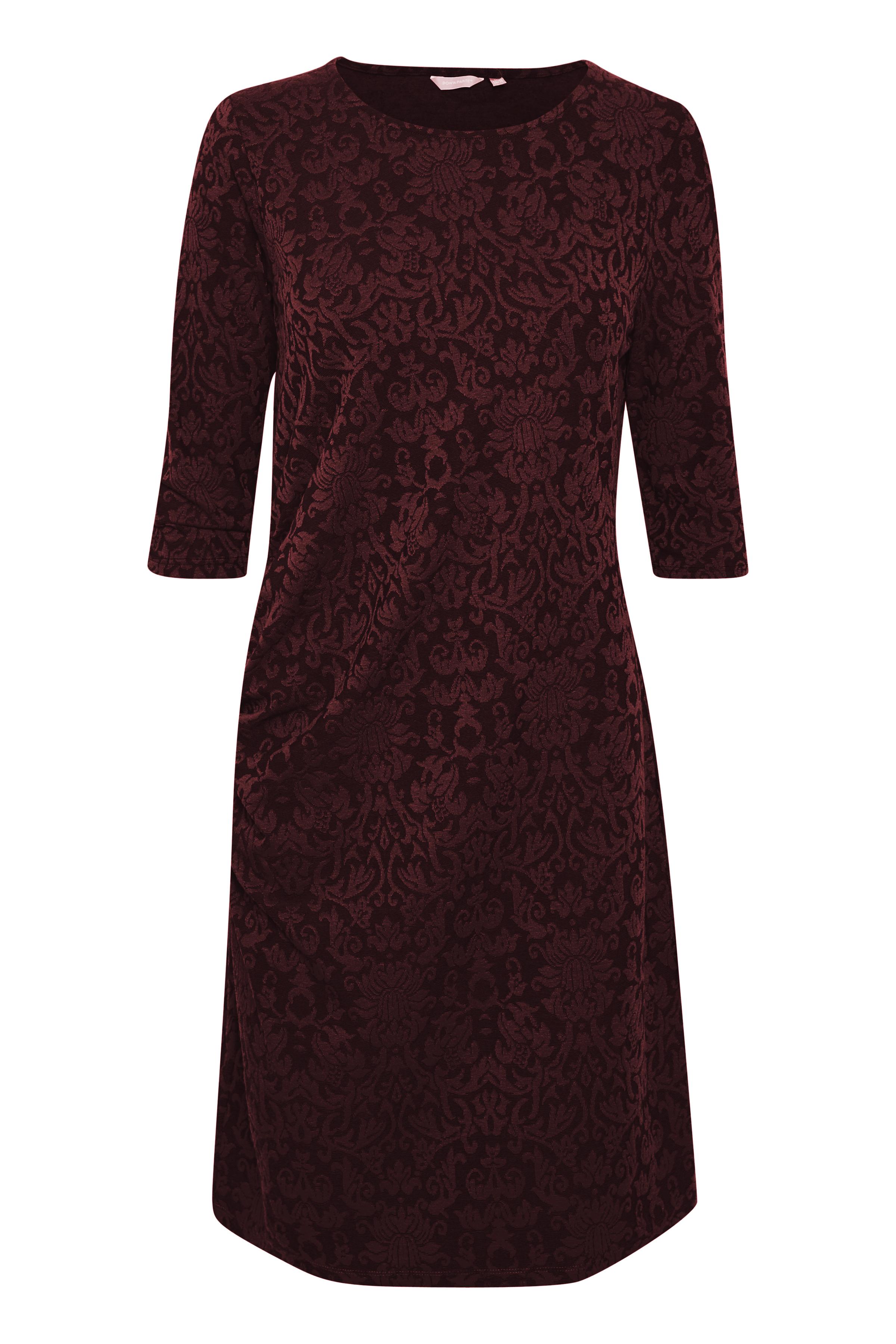 BonA Parte Dame Kjole i jaquard-printet jersey kvalitet. Kjolen - Mørkerød